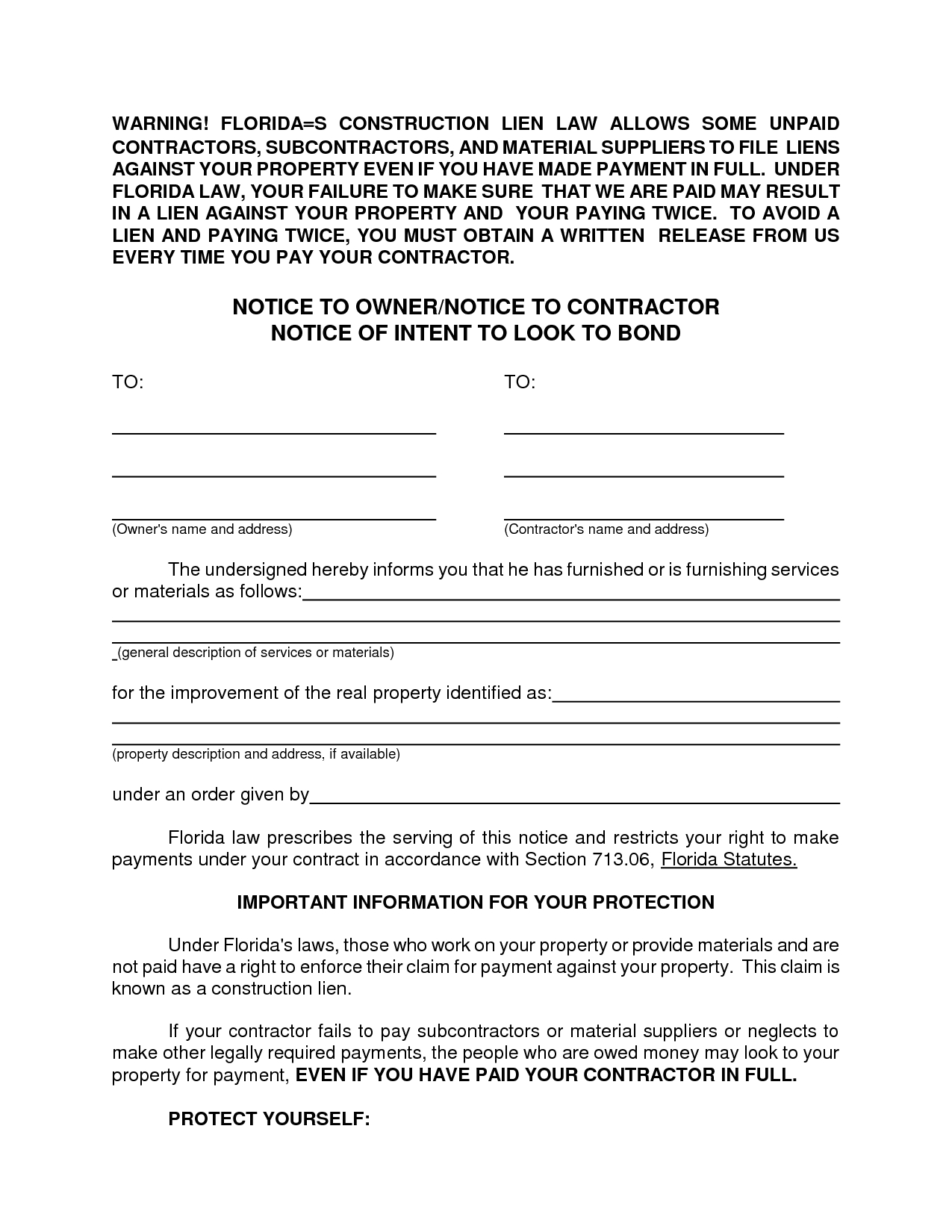 Intent to Lien Letter Template - Letter Intent Sample to File Mechanicsien In Texas Template A