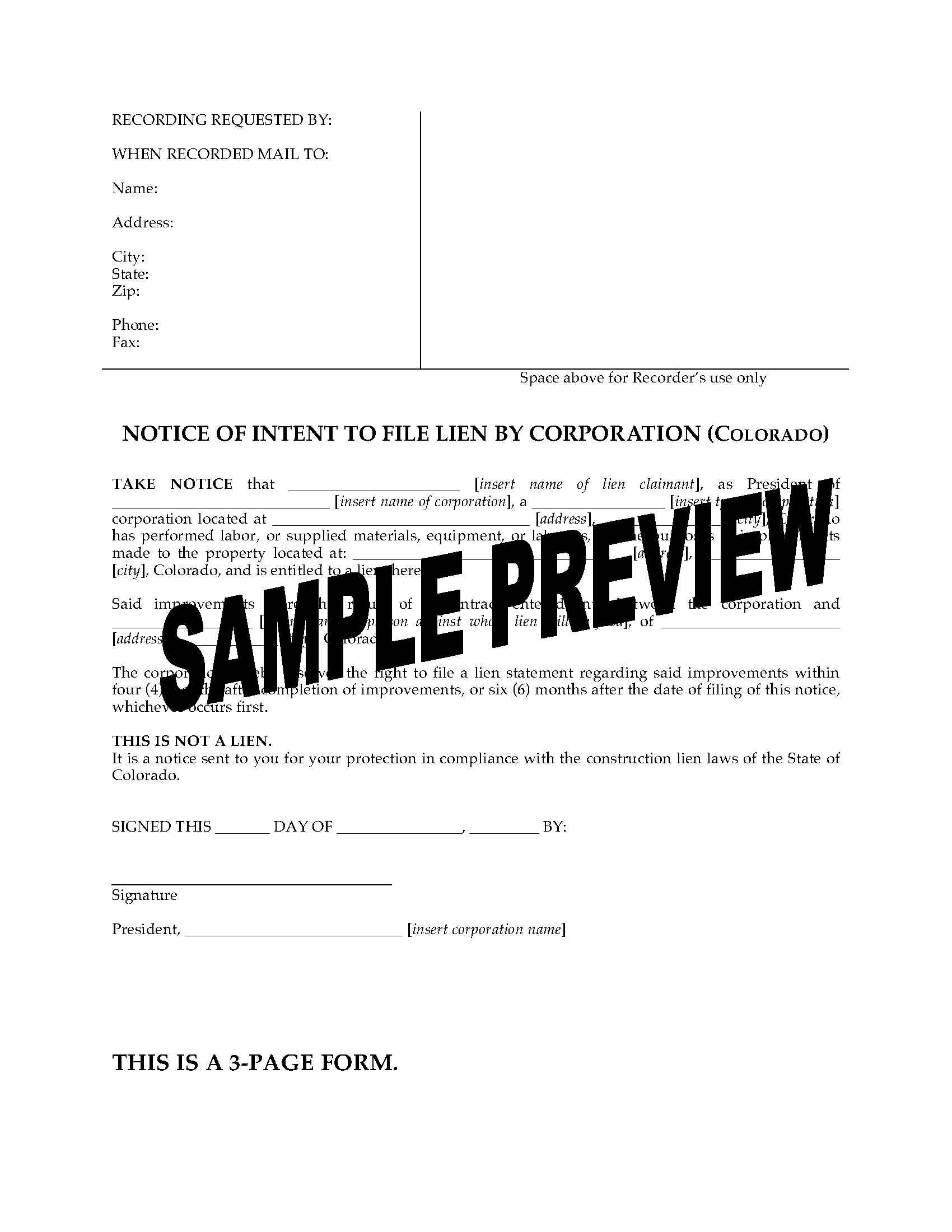 Intent to Lien Letter Template Texas - Letter Intent to File Lien Inspirations Template Sample A