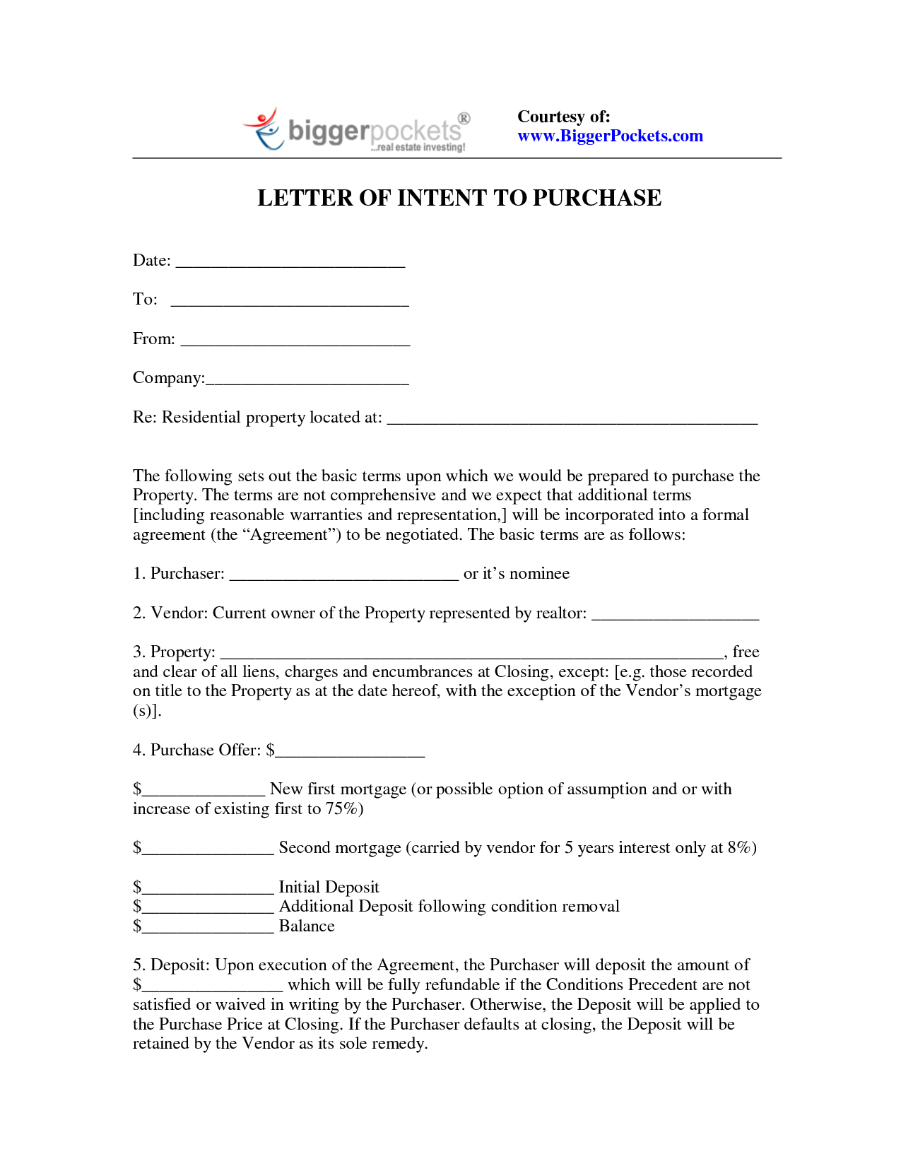 Letter Of Intent to Purchase Real Estate Template - Letter Intent to Purchase Real Estate Sample Buy Philippines