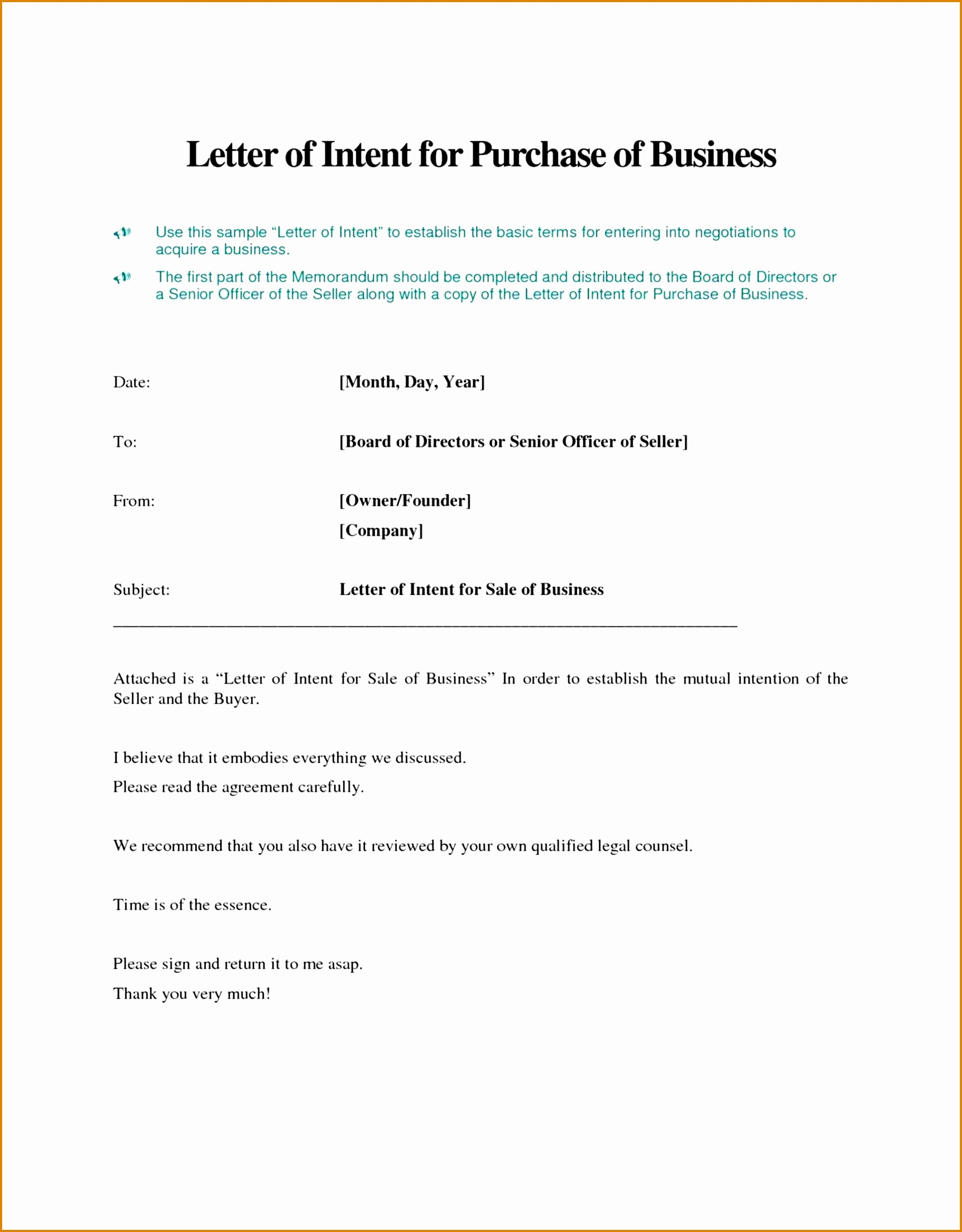 Letter Of Intent to Sell Property Template - Letter Intent to Sell Ideas How Write Business House