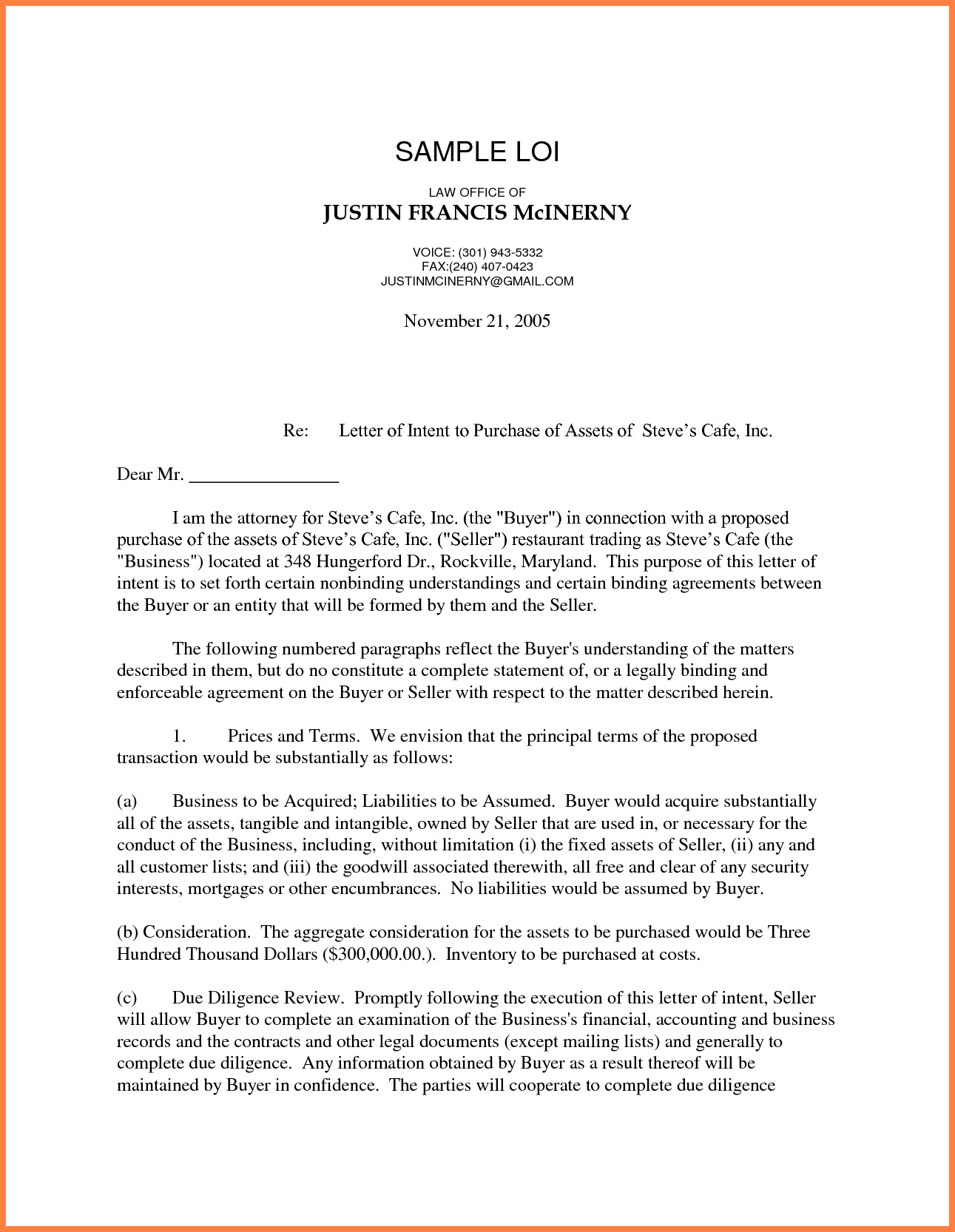 Real Estate Letter Of Intent Template Free - Letter Intento Purchase Real Estate Freeemplate Uk Buy Land
