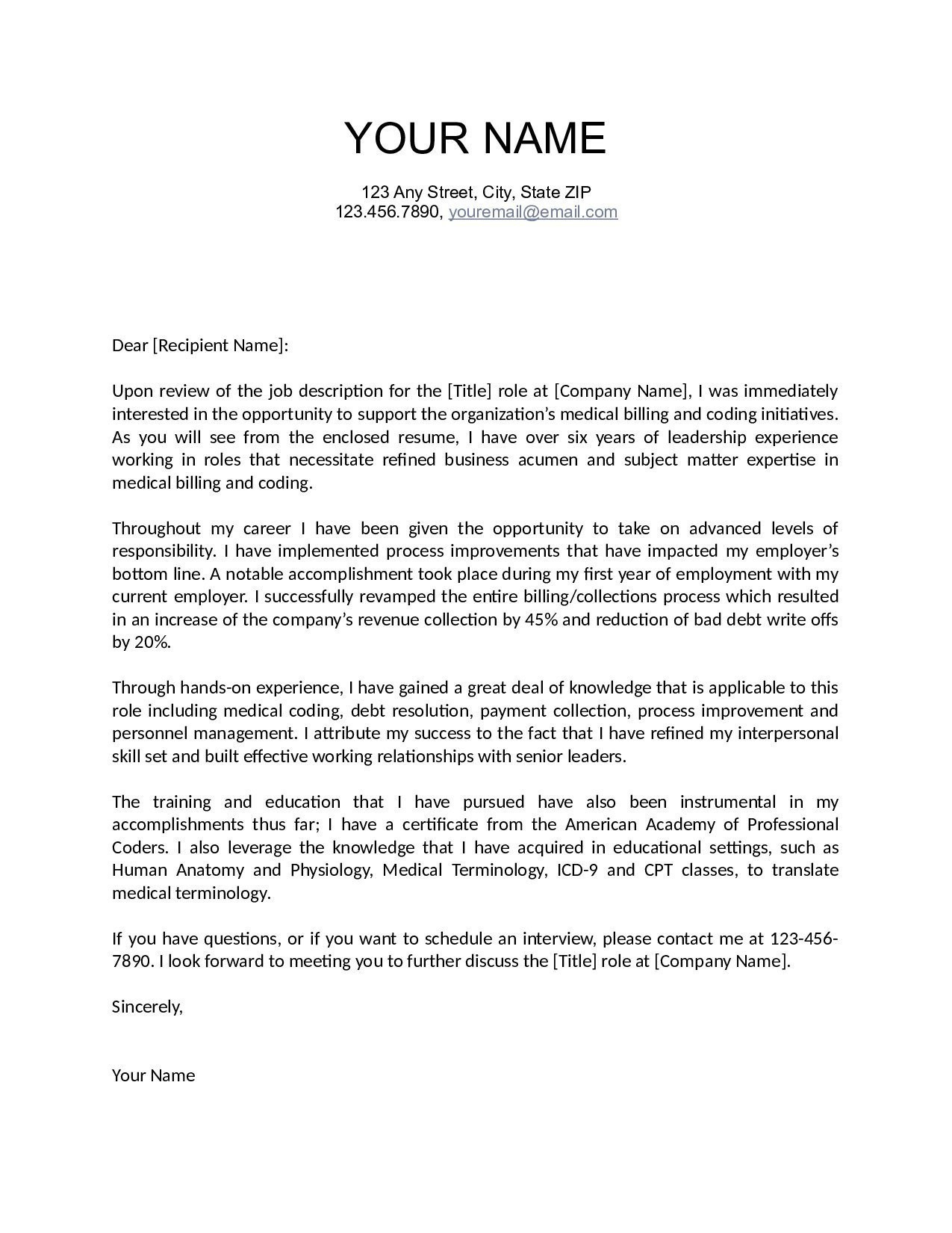 Letter Of Interest Email Template Examples Letter Templates