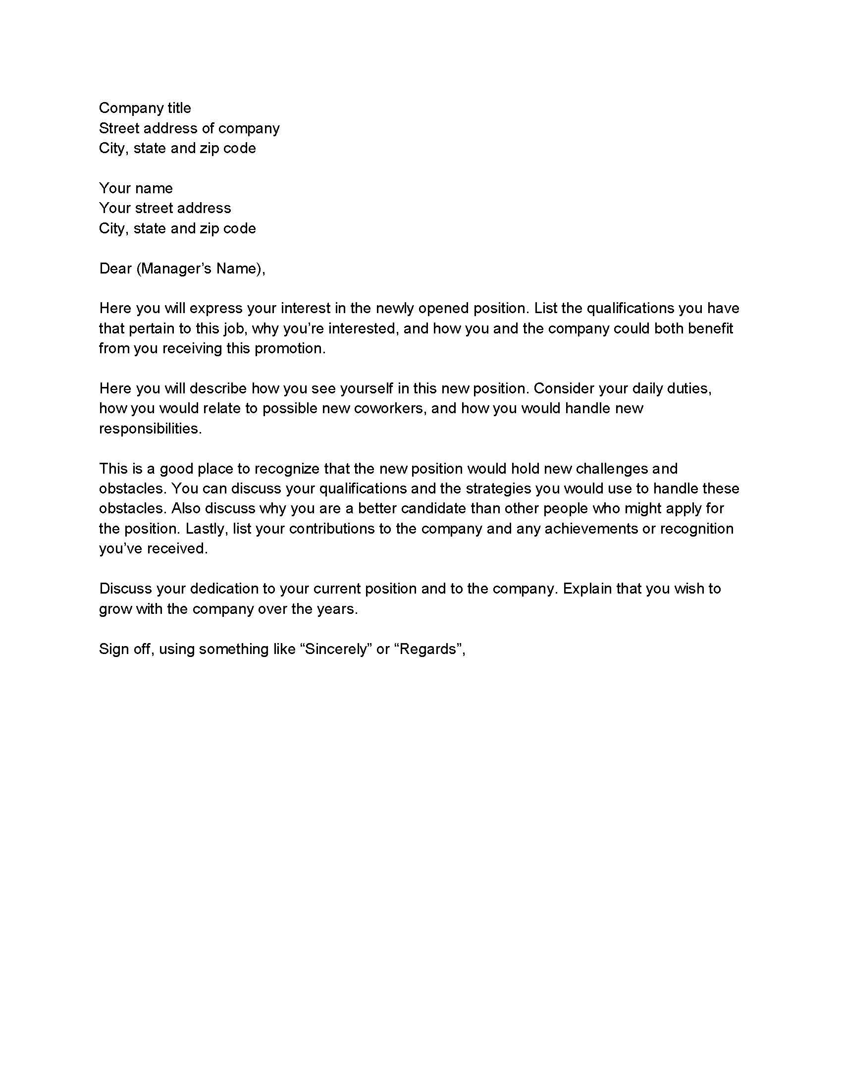 Letter Of Interest for Employment Template - Letter Interest Template