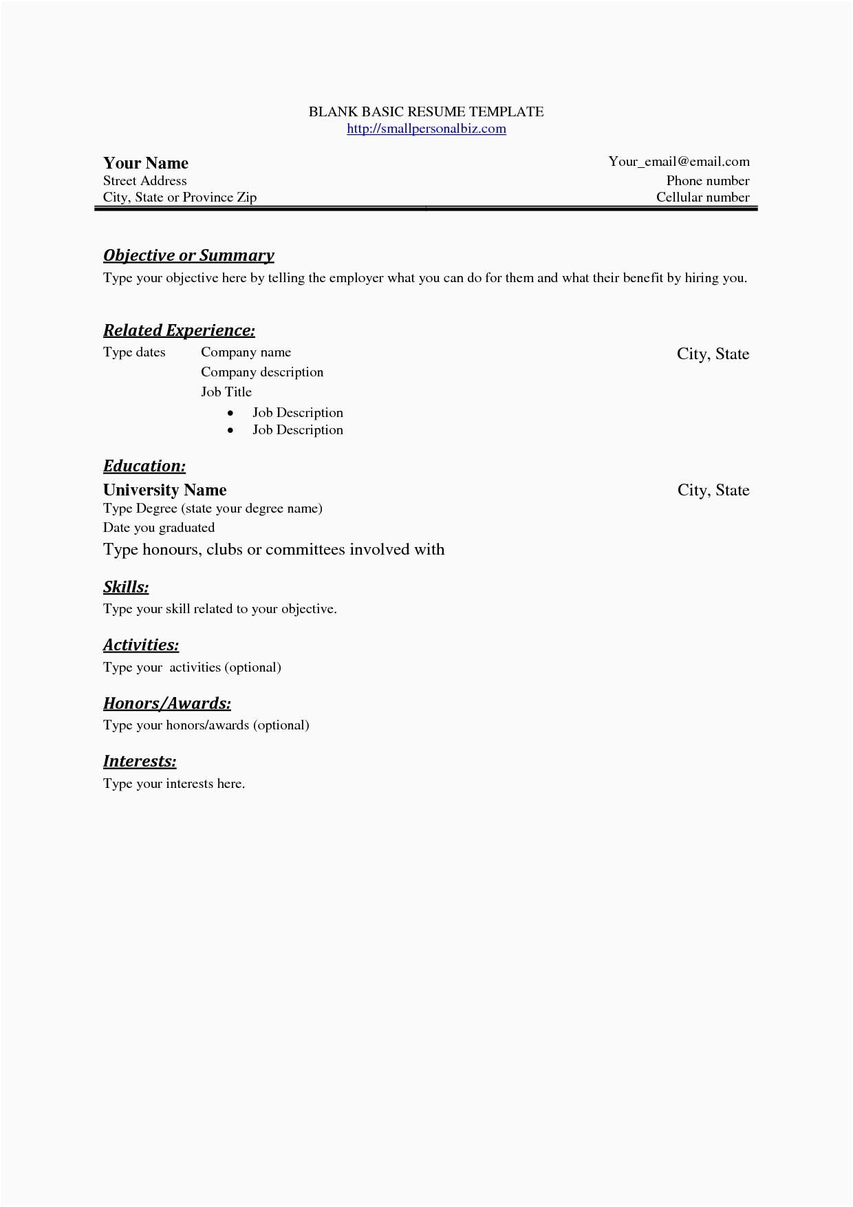 resume letter of introduction