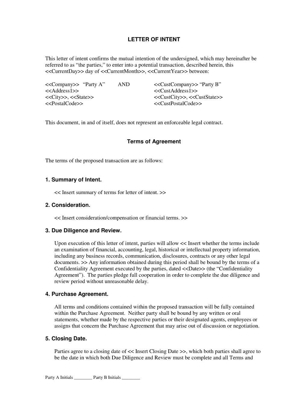 subcontractor letter of intent template Collection-Letter of Intent Agreement The Letter of Intent Agreement is intended for two parties who intend to enter into a contract This Letter of Intent is not a 20-i