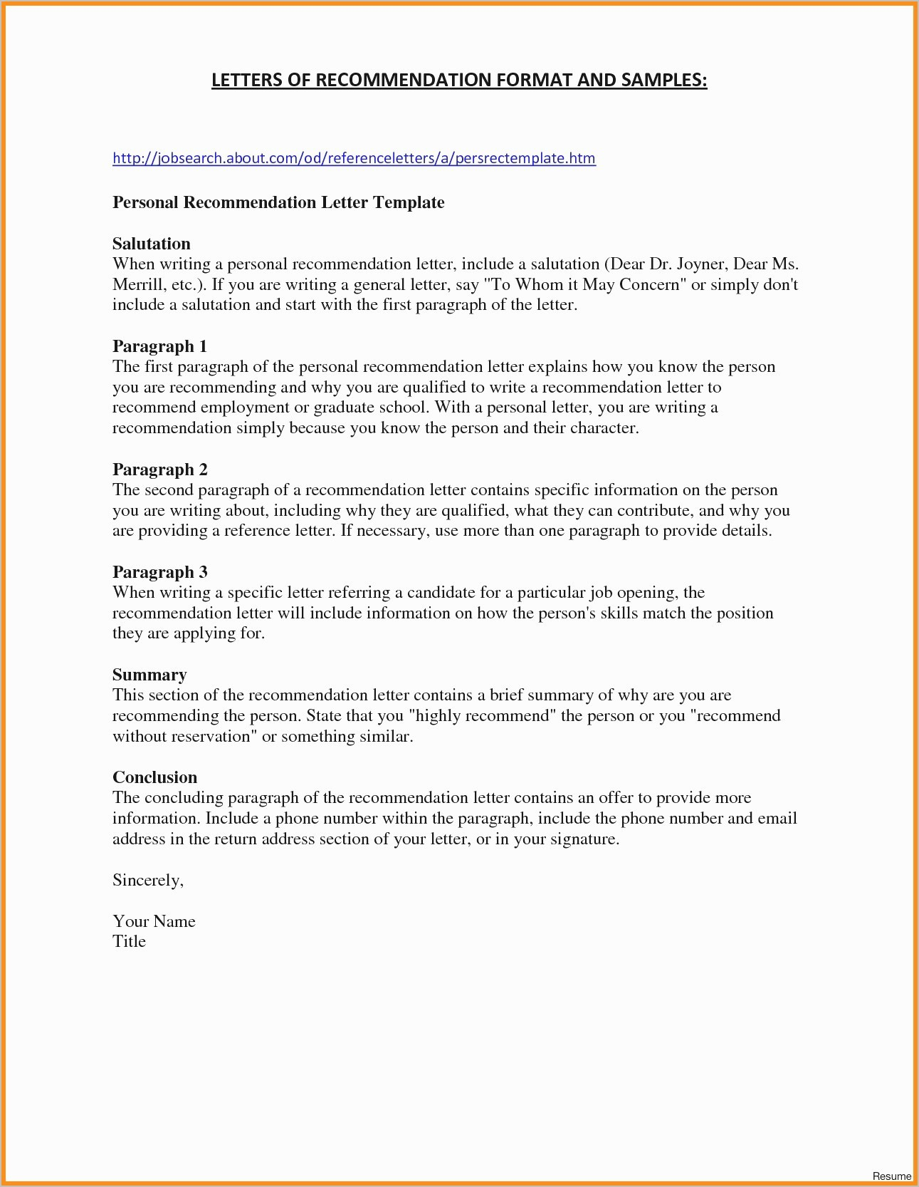 Grad School Letter Of Recommendation Template - Letter Re Mendation for School Job Inspirationa Inspirational