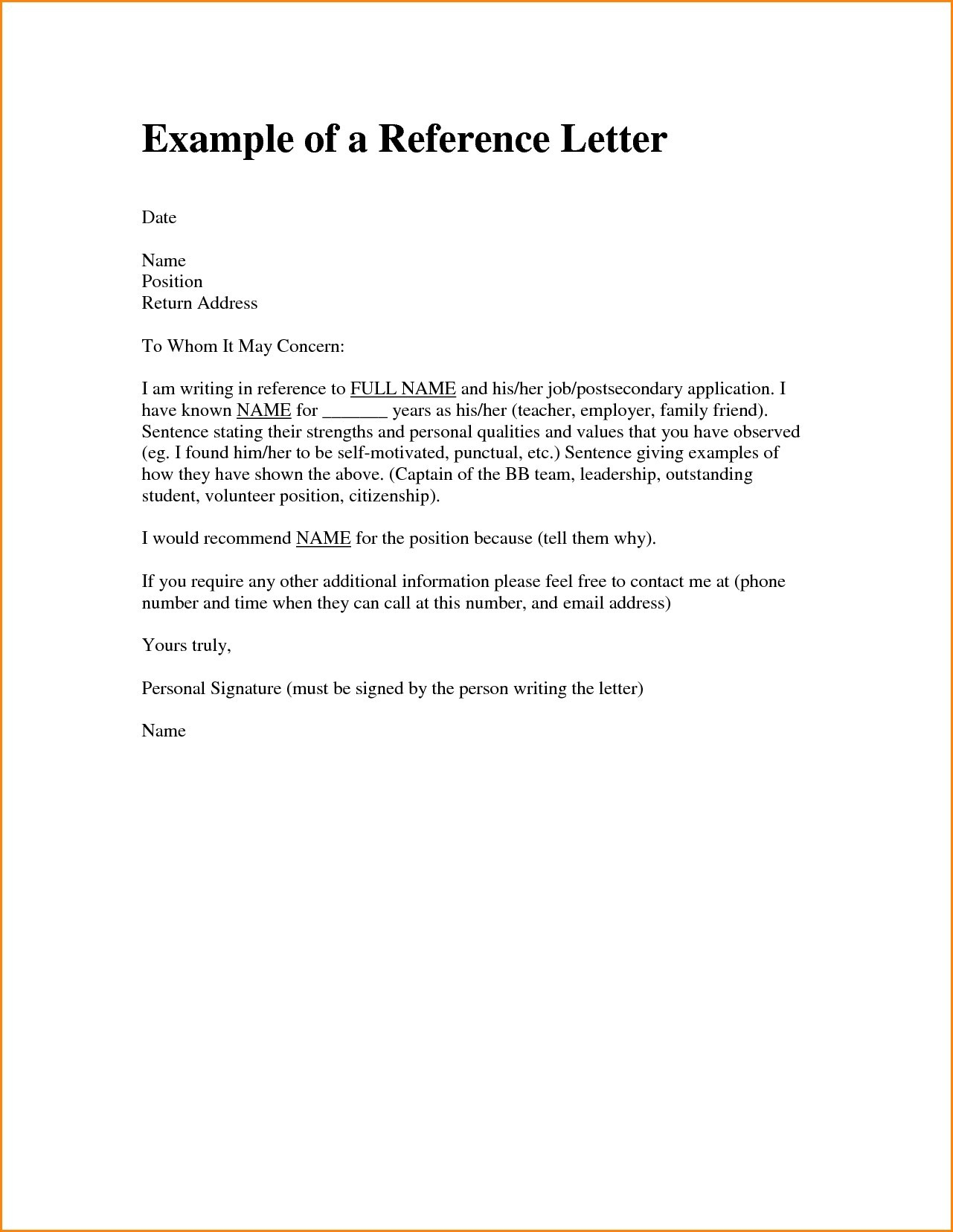 Immigration Recommendation Letter Template - Letter Re Mendation Template to whom It May Concern New Letter