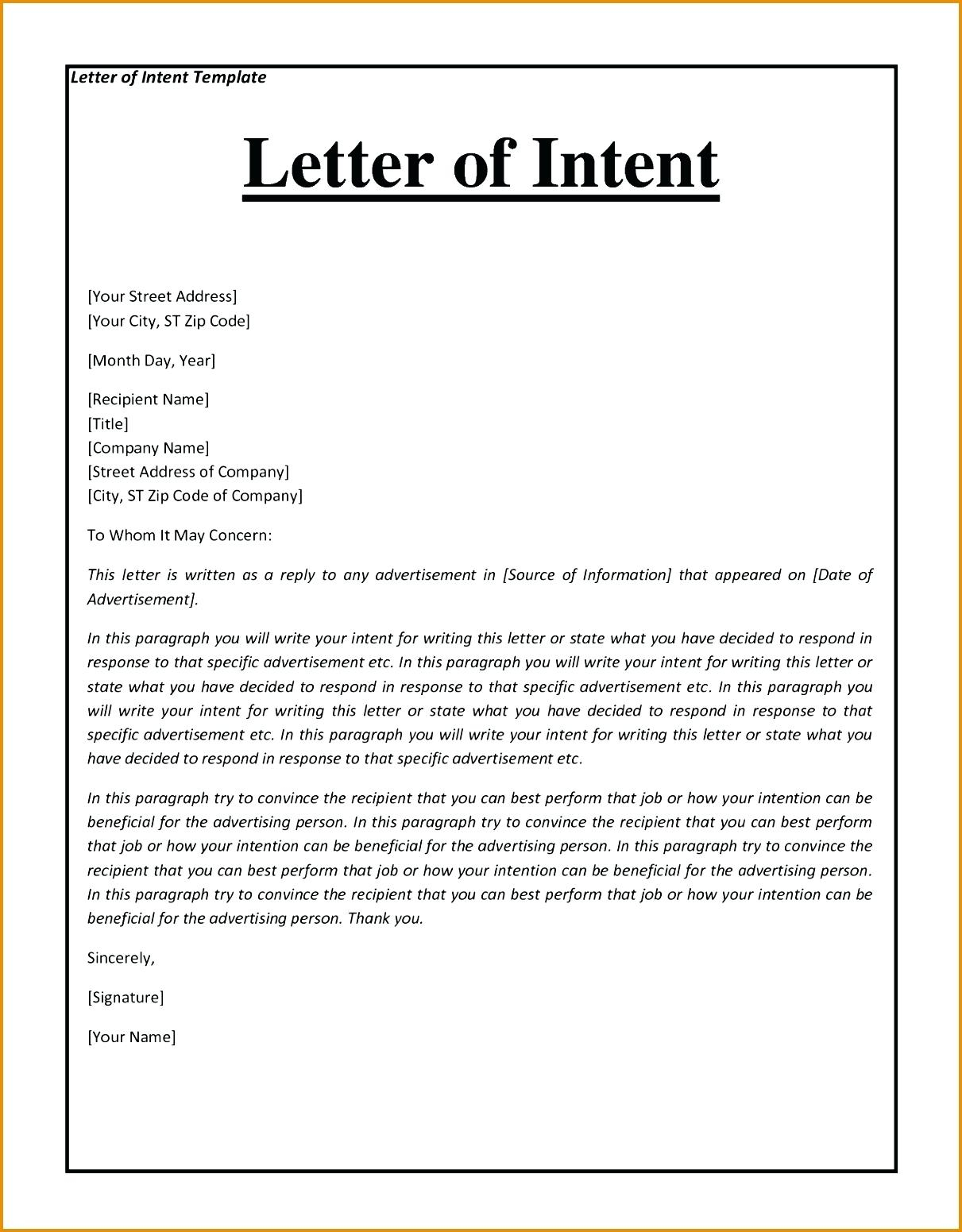 Letter Of Intent to Purchase Equipment Template - Letter T to Purchase Equipment High Resolution Template