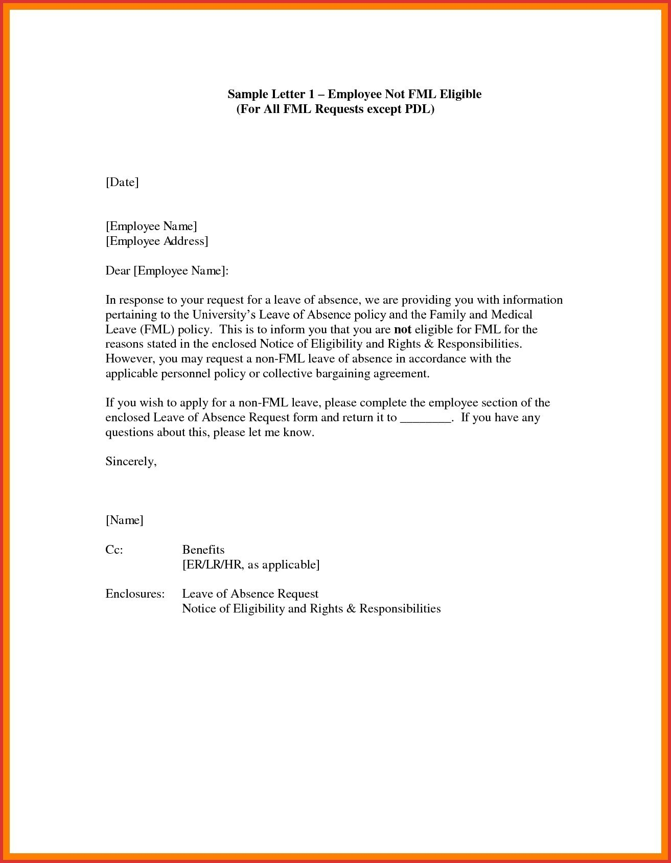 Medical Leave Of Absence Letter Template - Letter Template for Leave Request New Leave Absence Letter Template