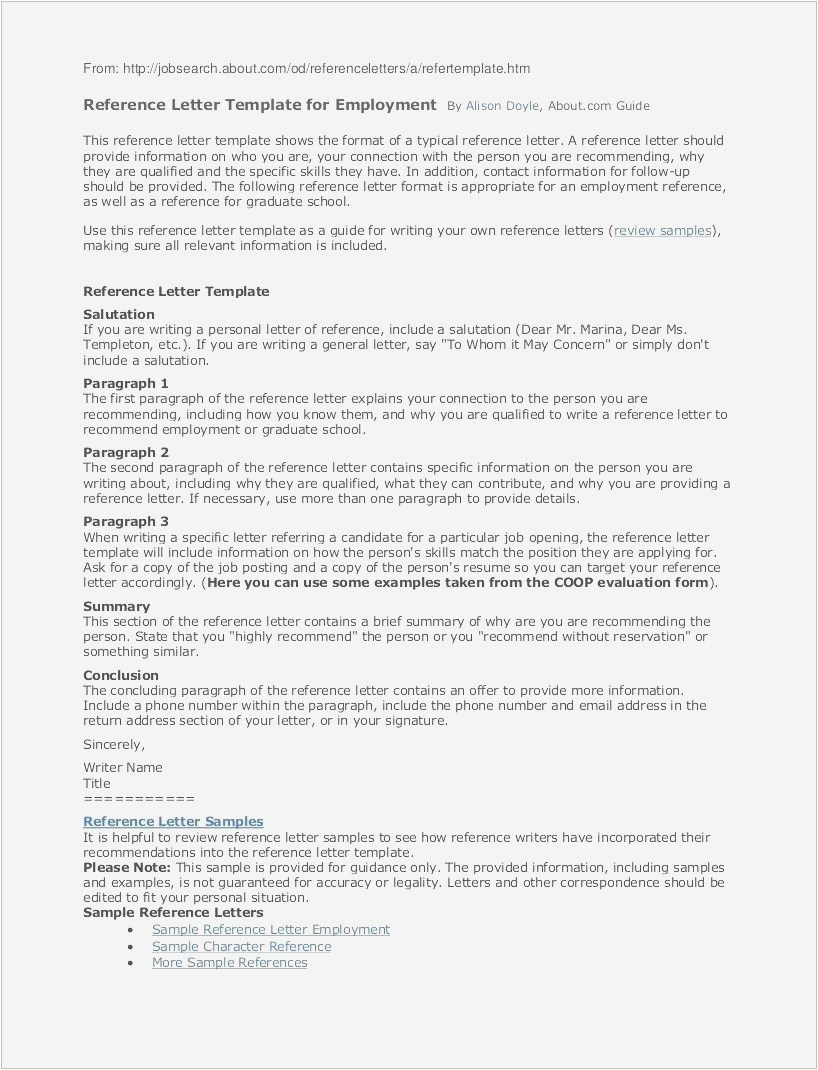Free Sample Reference Letter Template - Letters Re Mendation format format Letter Reference Free