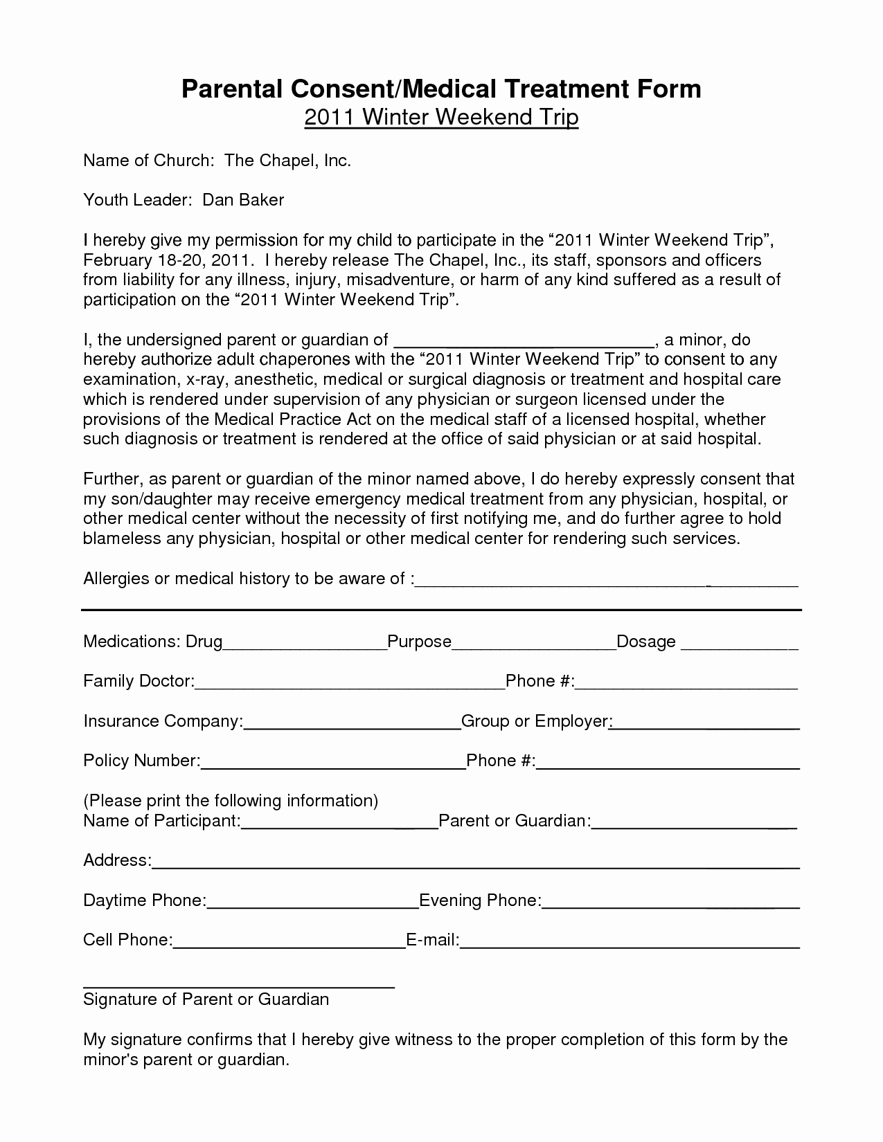 Waiver Letter Template - Medical Waiver Template Lovely Notarized Medical Consent form for