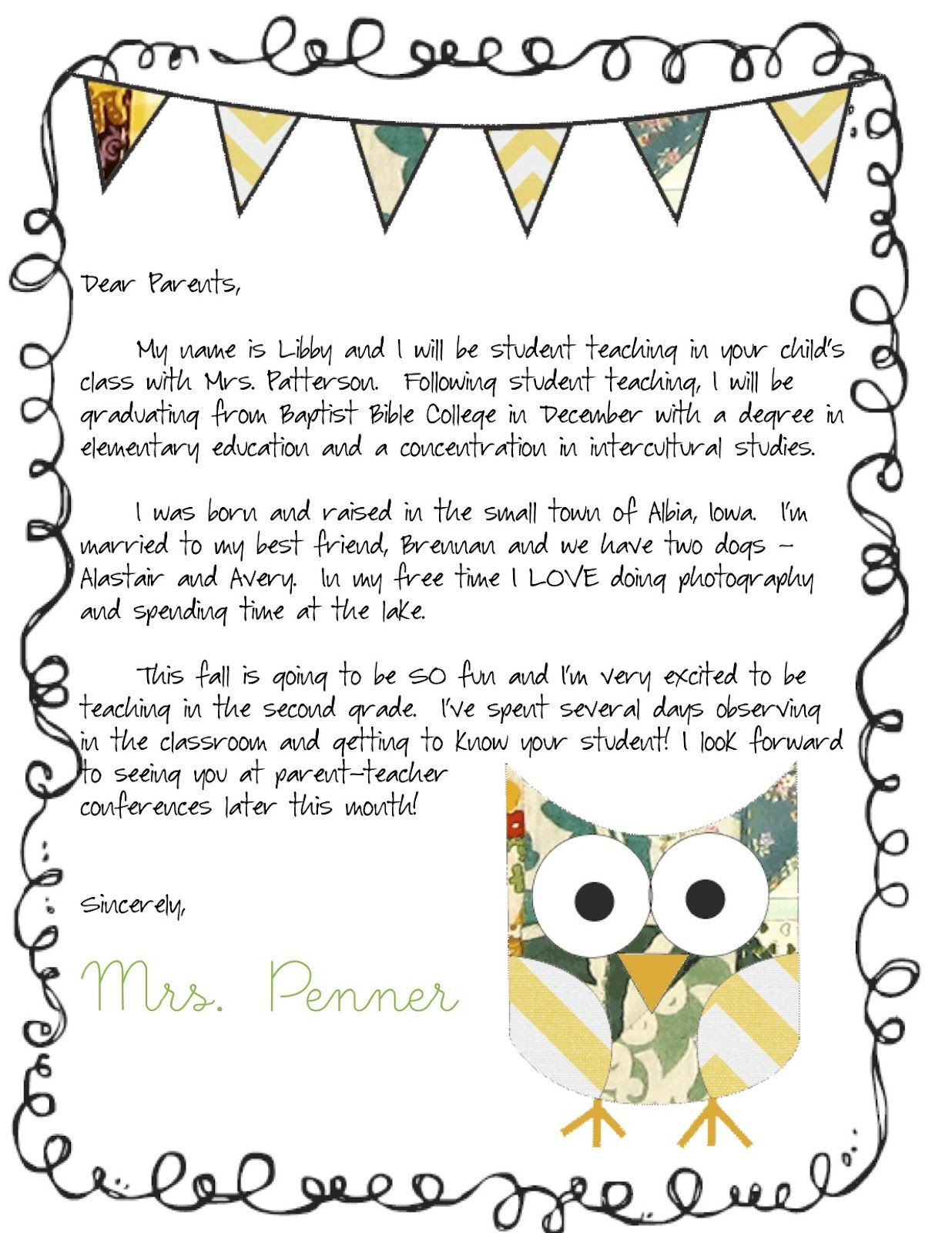 Teacher Welcome Letter to Parents Template - Meet the Teacher Letter Classroom Ideas Pinterest