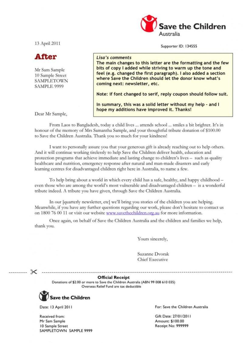 Acknowledgement Of Donation Letter Template - Memorial Donation Acknowledgement Letter Template