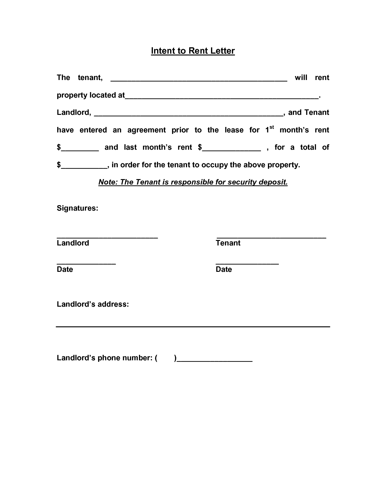 Letter Of Intent to Lease Commercial Property Template - Mercial Real Estate Lease Letter Intent Template Purchase