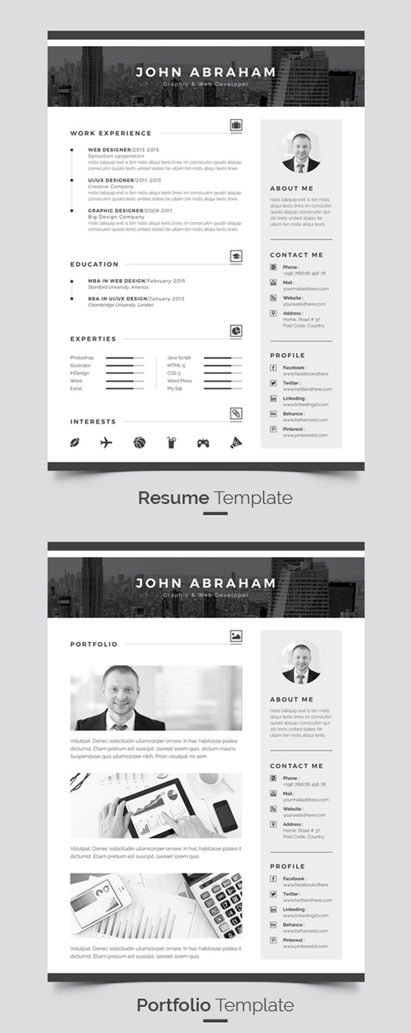 Cover Letter Template for First Job - Modern Resume & Cover Letter & Portfolio Template
