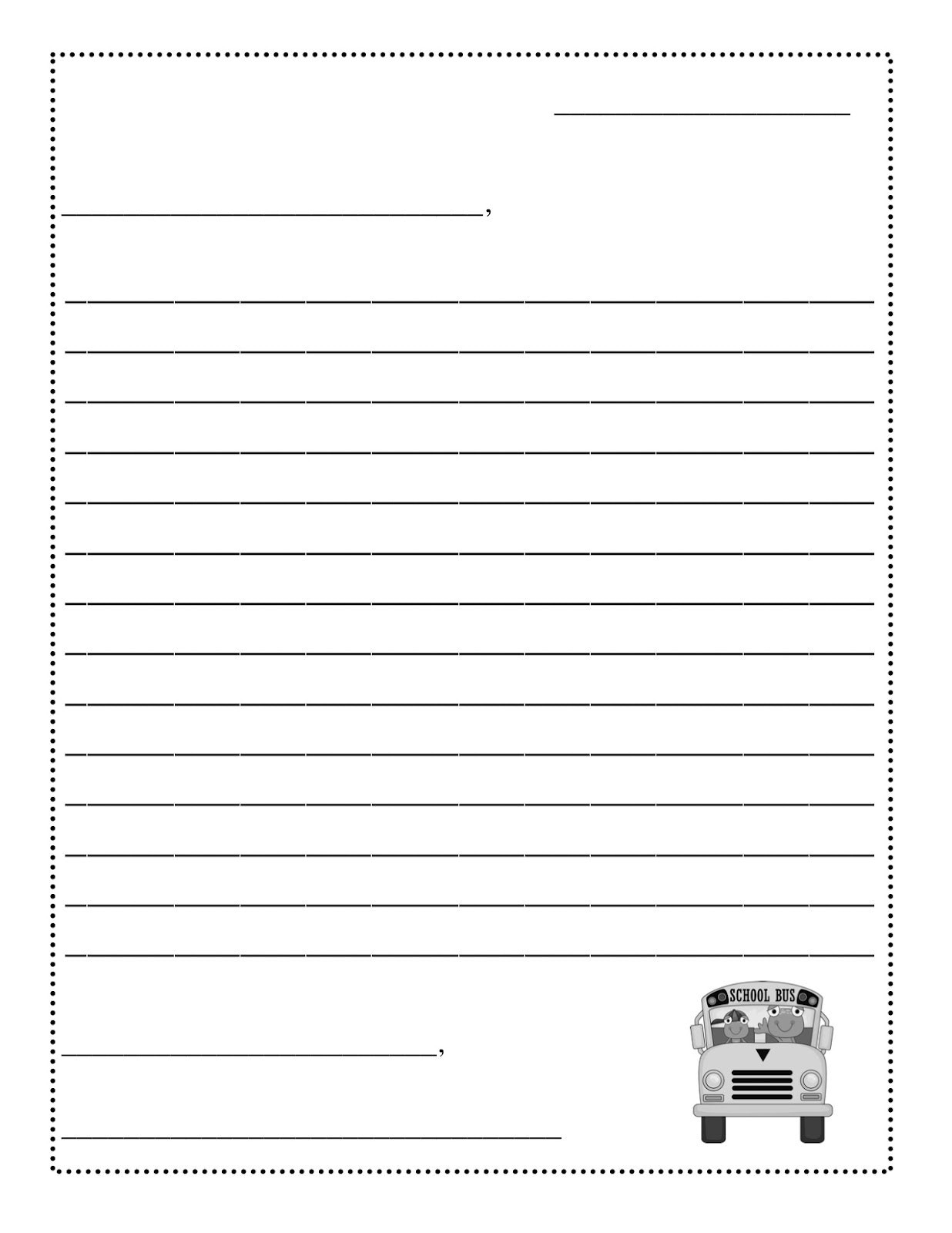 Free Printable Letter to Santa Template - New Free Printable Resume Template