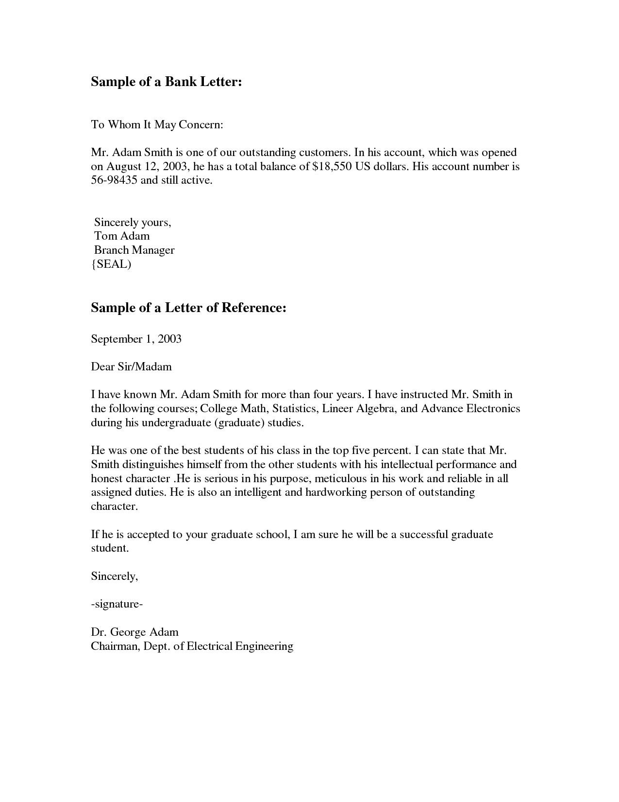 Free Letter Re mendation Template Samples