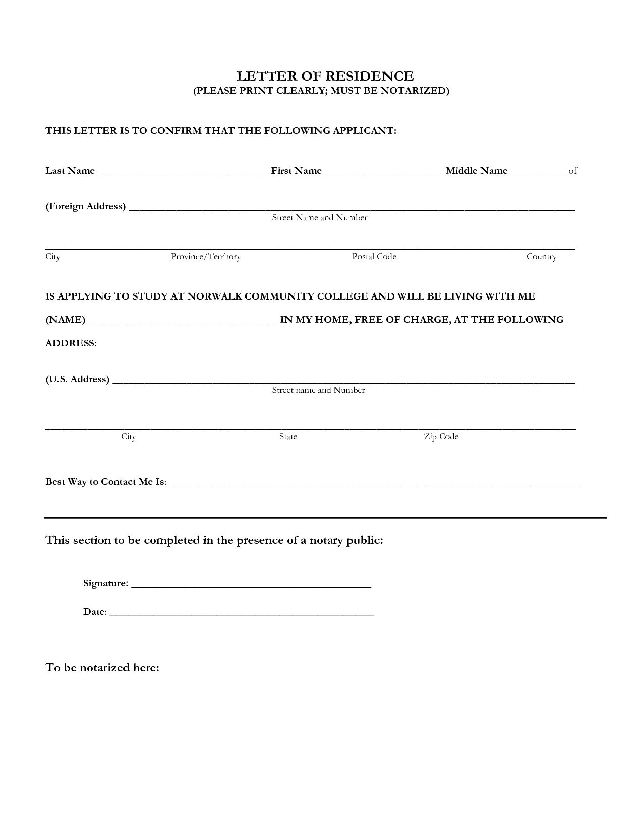Proof Of Residency Letter Notarized Template - Notarized Certificate Employment Sample New Example Notarized