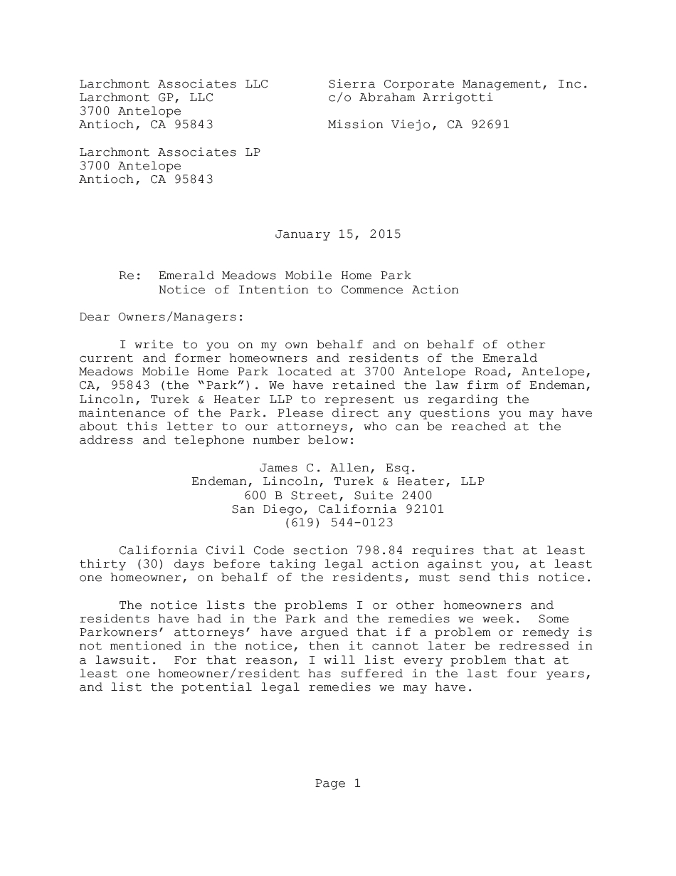 Letter Of Intent to Take Legal Action Template - Notice Intent to Sue Template This Florida form Letter S