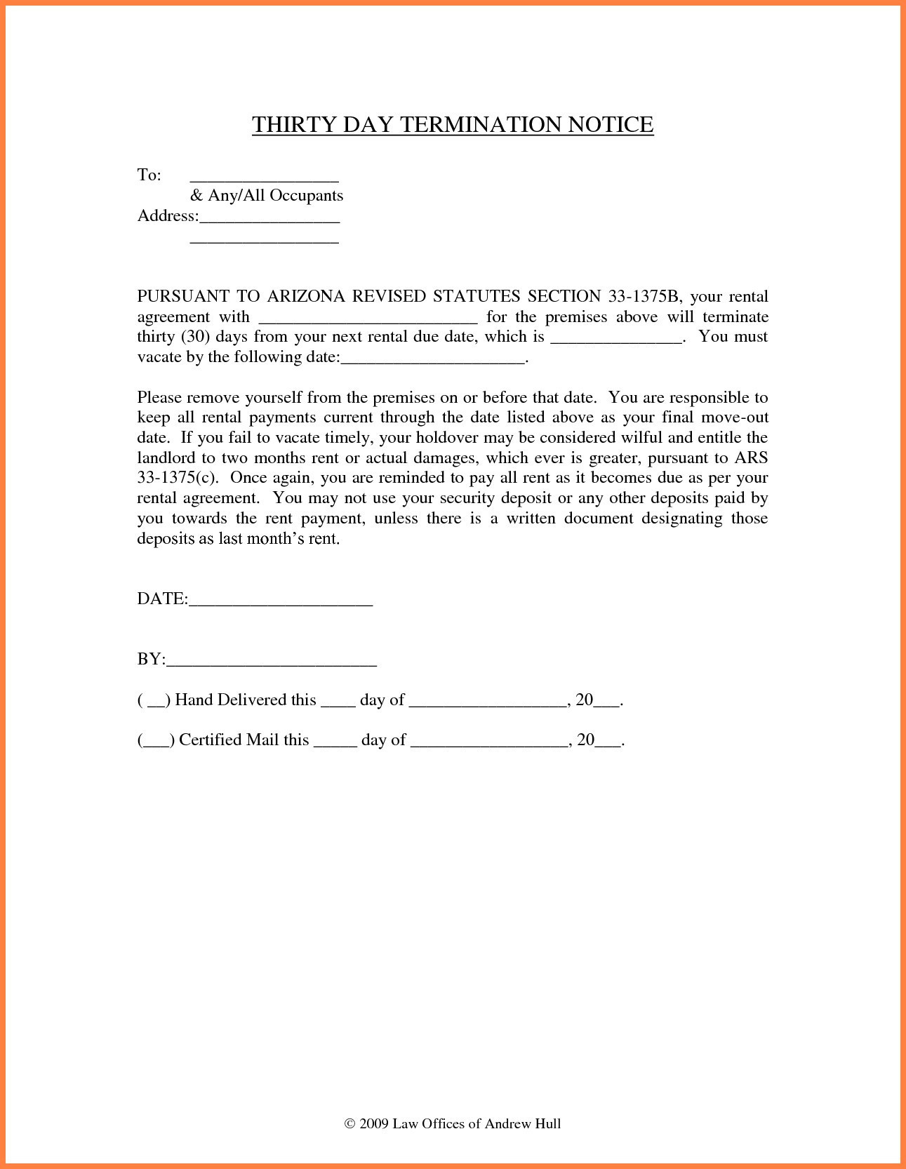 Notice to Vacate Letter to Tenant Template - Notice to Vacate Letter to Tenant Template Best Termination
