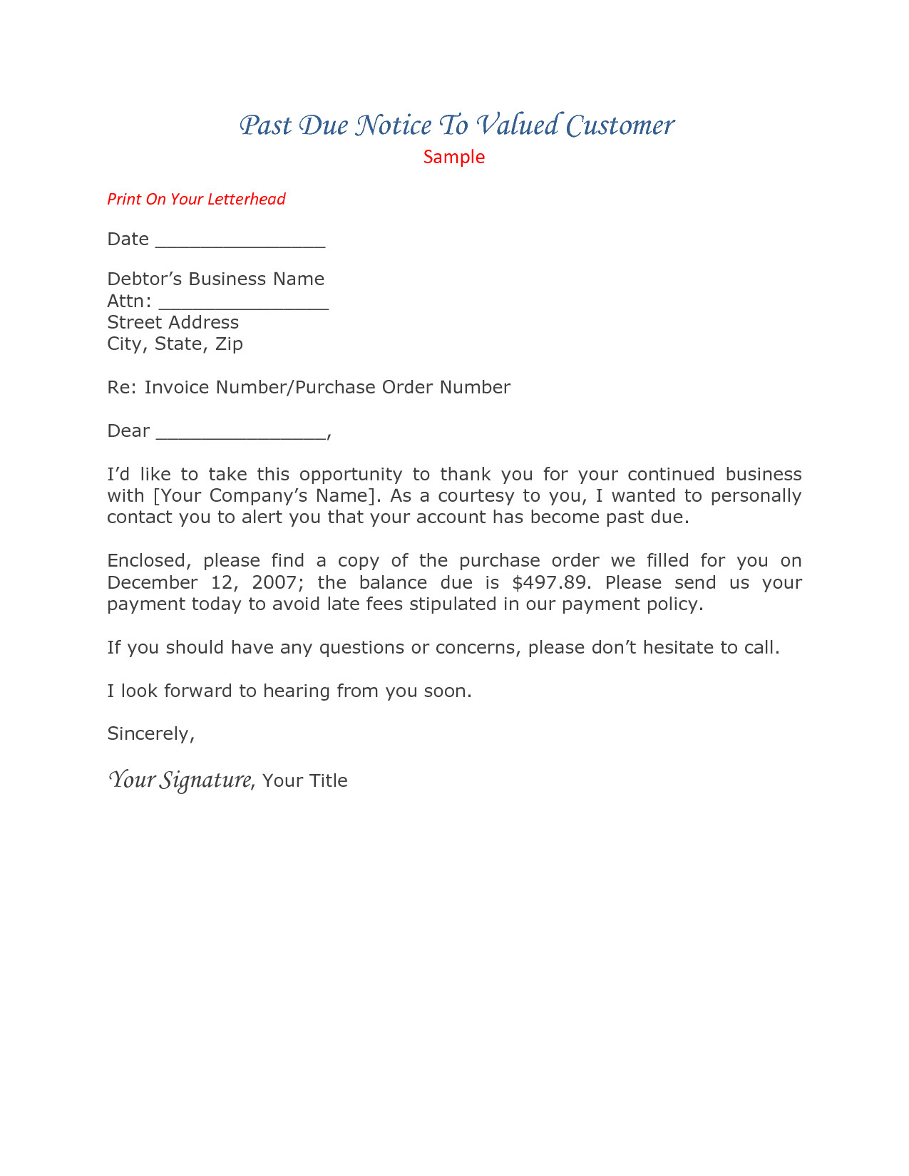 Past Due Rent Letter Template - Past Due Invoice Letter Awesome 20 New Payment Demand Letter