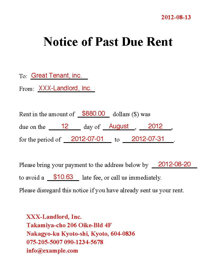 Past Due Rent Letter Template - Past Due Invoice Letter Template Overdue Invoice Letter Sample Past