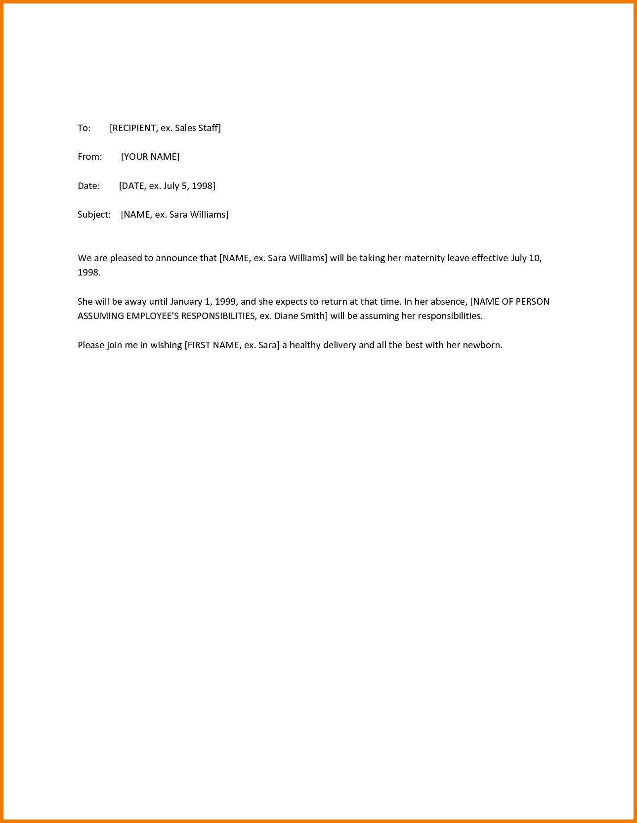 Maternity Return to Work Letter From Employer Template - Paternity Leave Letter Template Uk Best 20 New Letter Template