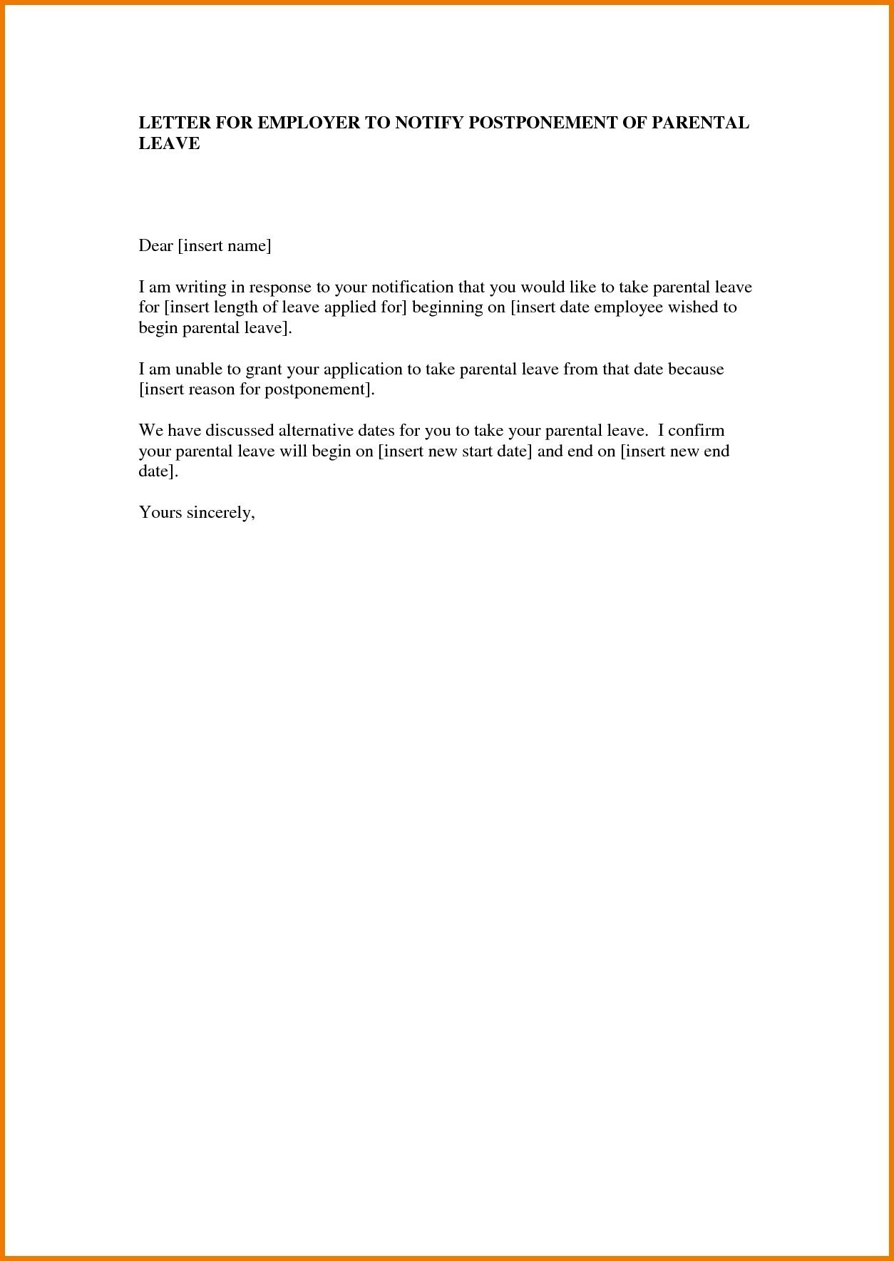 Pregnancy Confirmation Letter Template - Paternity Leave Letter Template Uk Best 20 New Letter Template