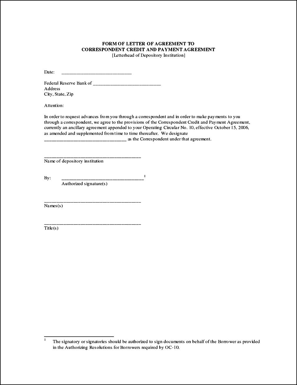Personal Loan Repayment Letter Template - Payment Agreement form Ideas