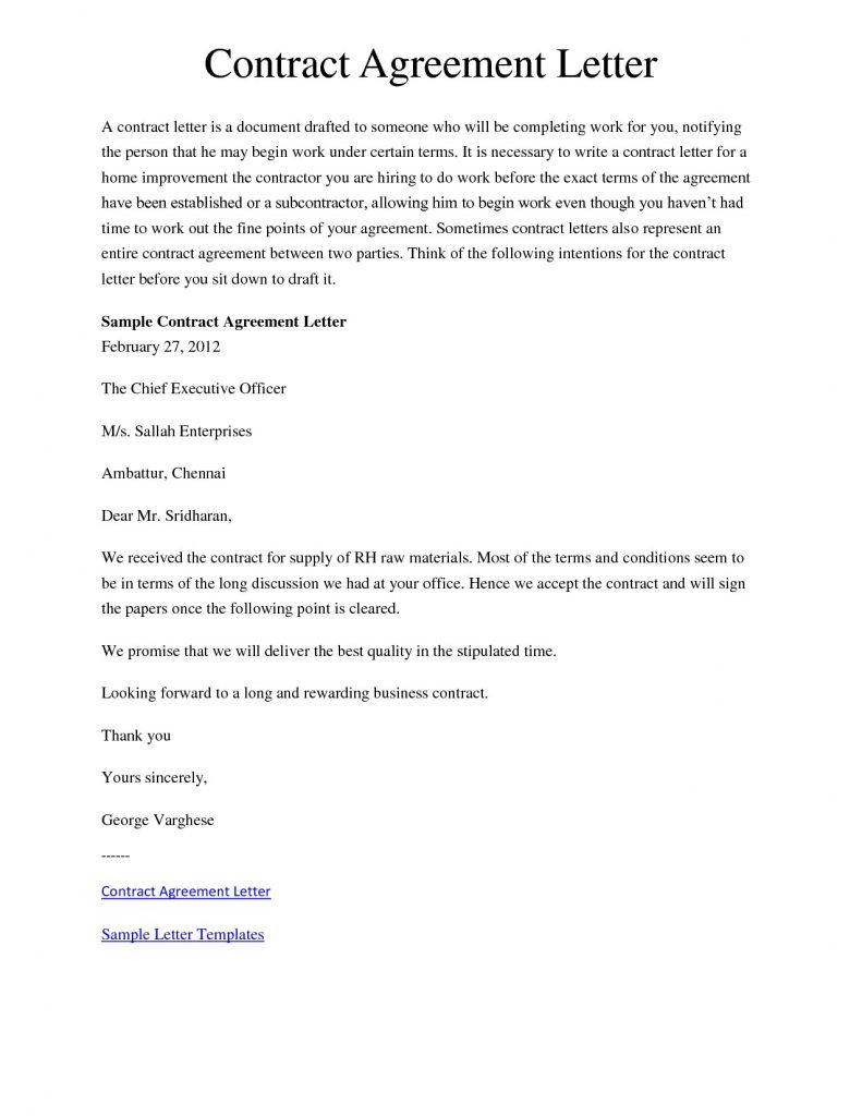 Repayment Agreement Letter Template - Payment Agreement Letter format Fresh Contract Letter Template