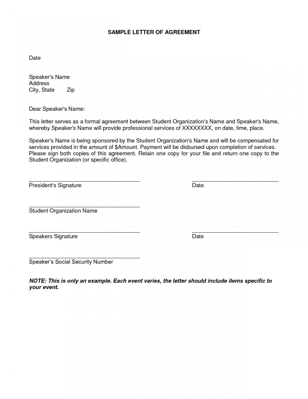 Repayment Agreement Letter Template - Payment Agreement Letter format New Undertaking Letter format