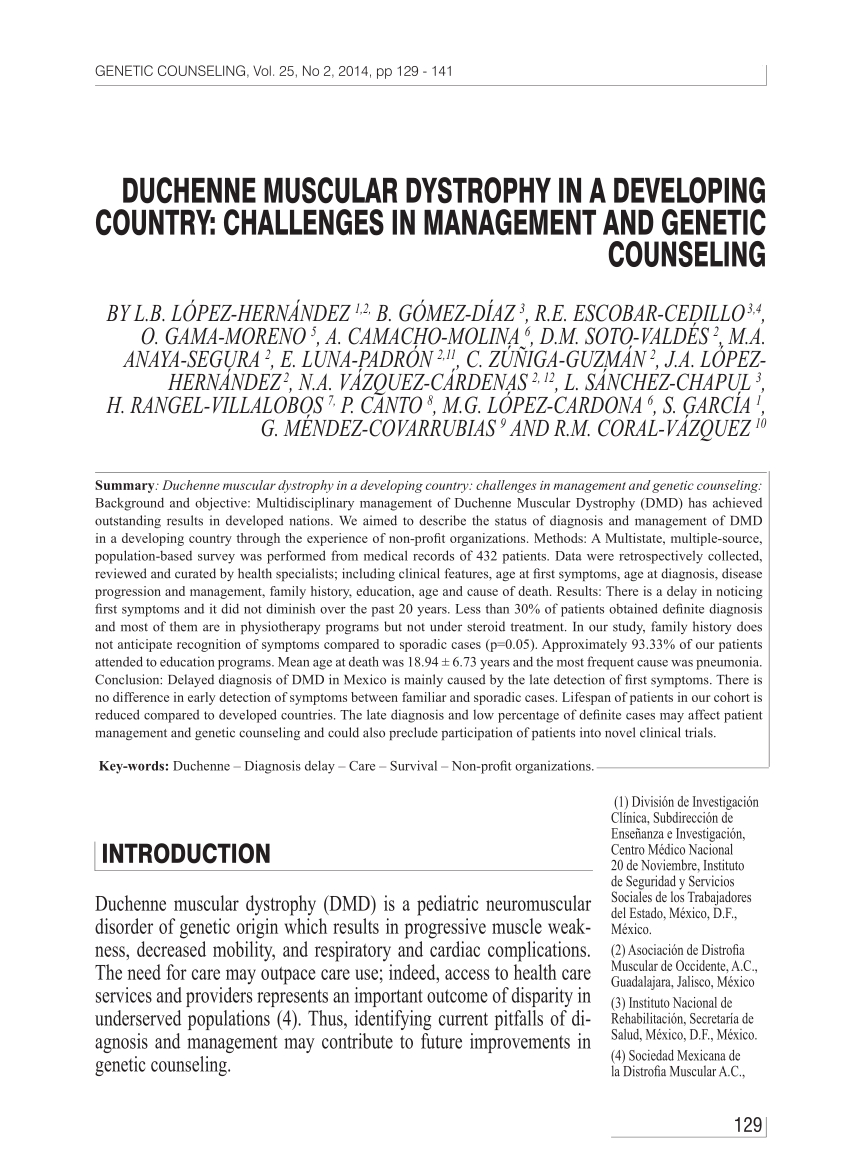 Genetic Counseling Letter Template - Pdf Duchenne Muscular Dystrophy In A
