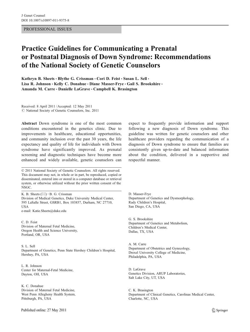 Genetic Counseling Letter Template - Pdf Practice Guidelines for Municating A