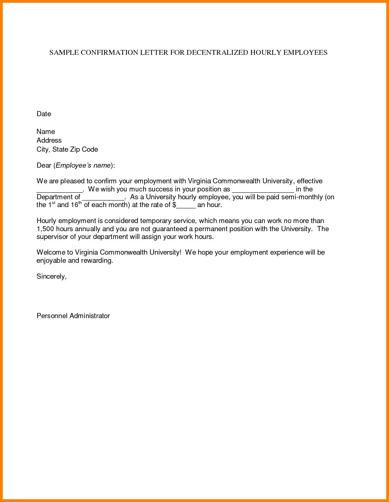 Temp to Perm Offer Letter Template - Permanent Letter format Pany Inspirationa Letter Confirming