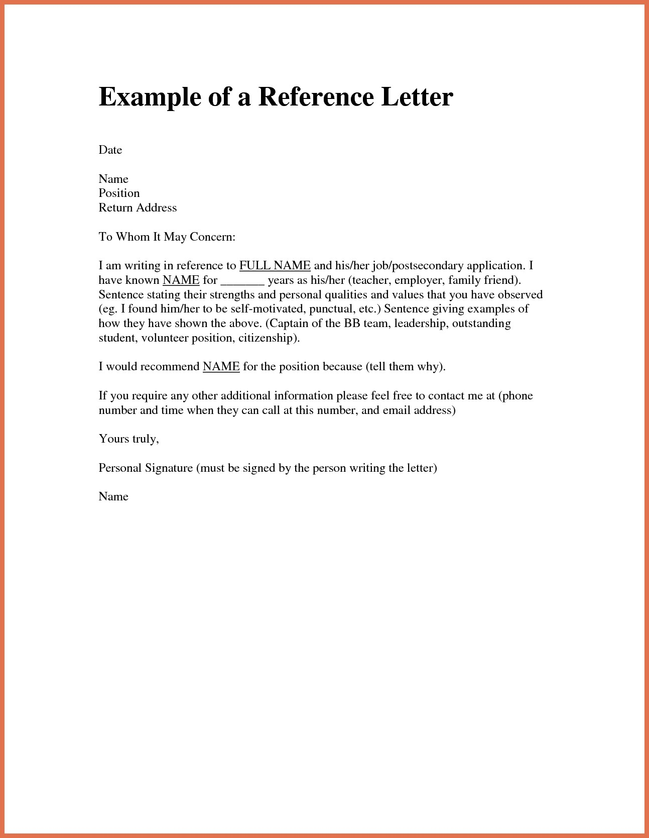 Personal Reference Letter for A Friend Template - Personal Re Mendation Letter for An Employee New Examples