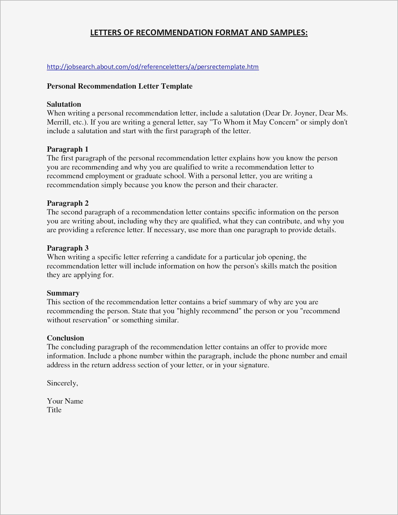 Generic Reference Letter Template - Personal Reference Letter for Job Valid Sample Personal Reference