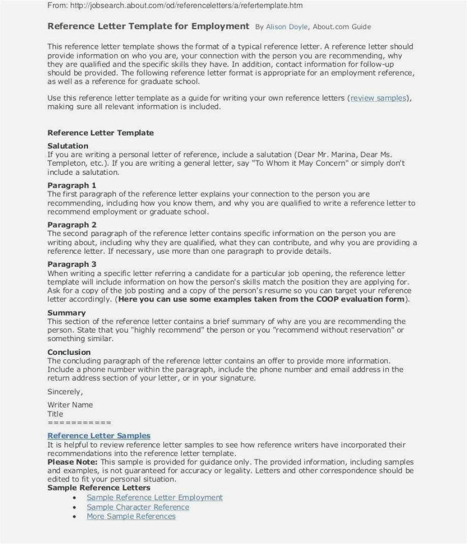 Free Sample Reference Letter Template - Personal Reference Letter Sample Free Download Best solutions