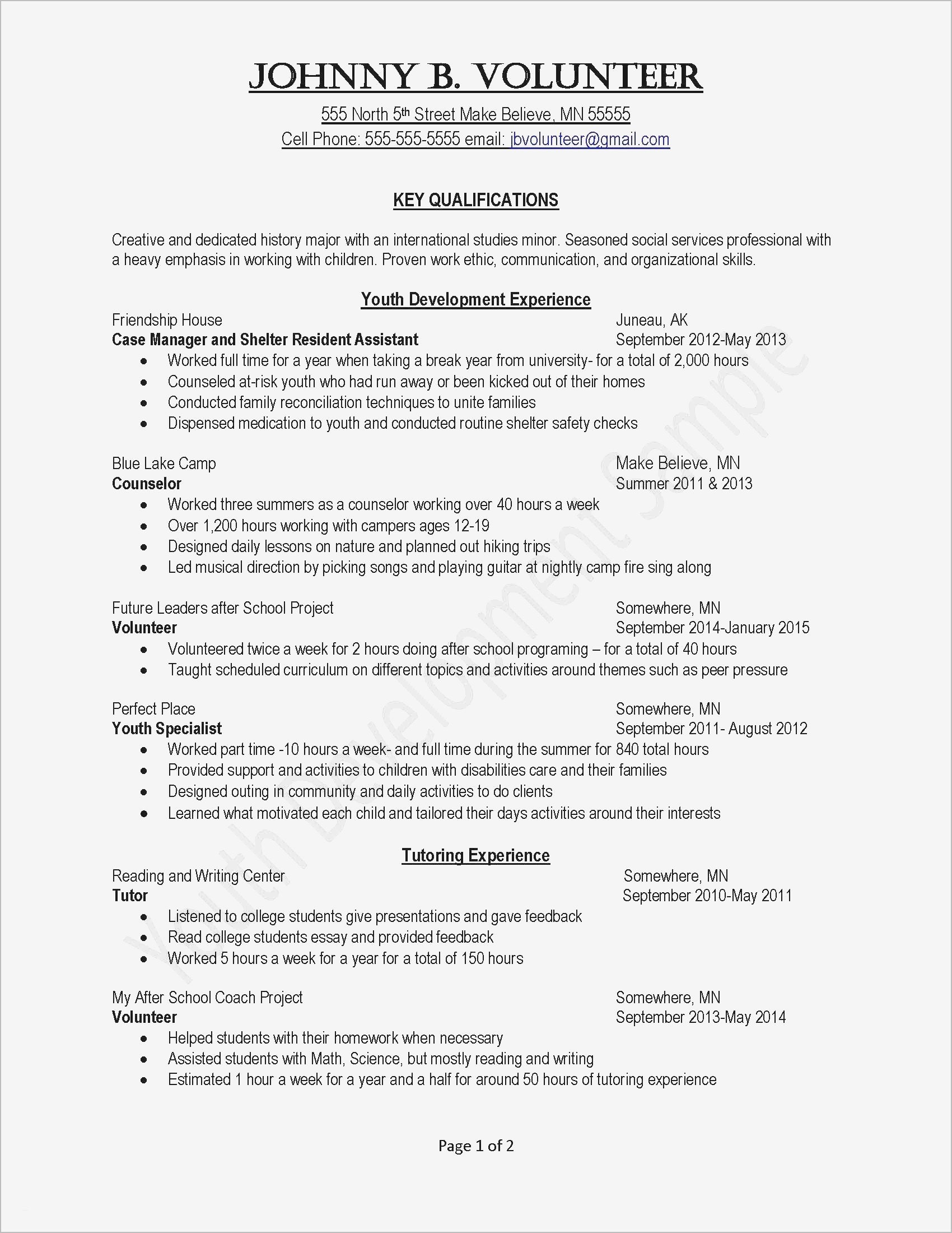 Personal Cover Letter Template