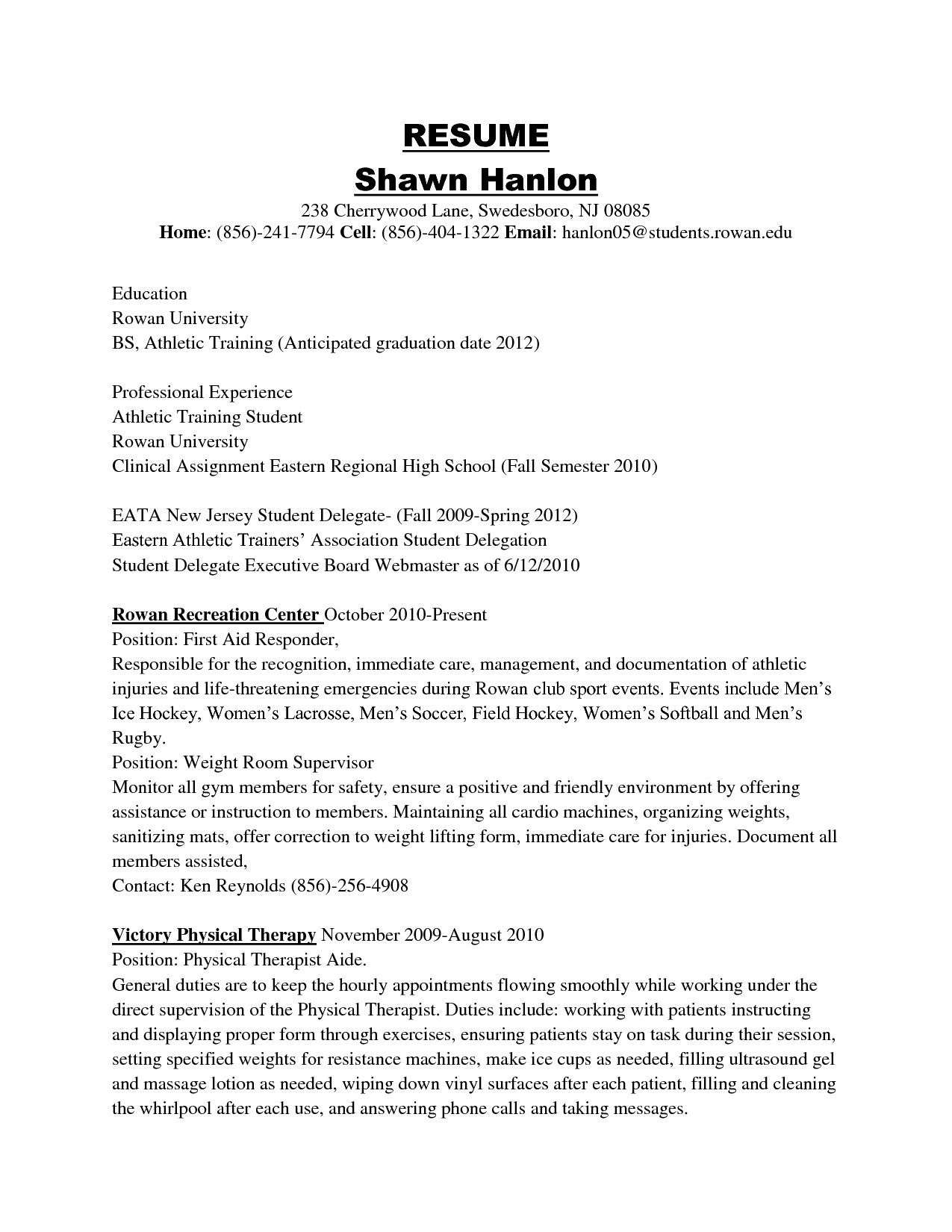 Sample Student Retention Letter Template - Personal Training Resume Template New American Resume Sample New
