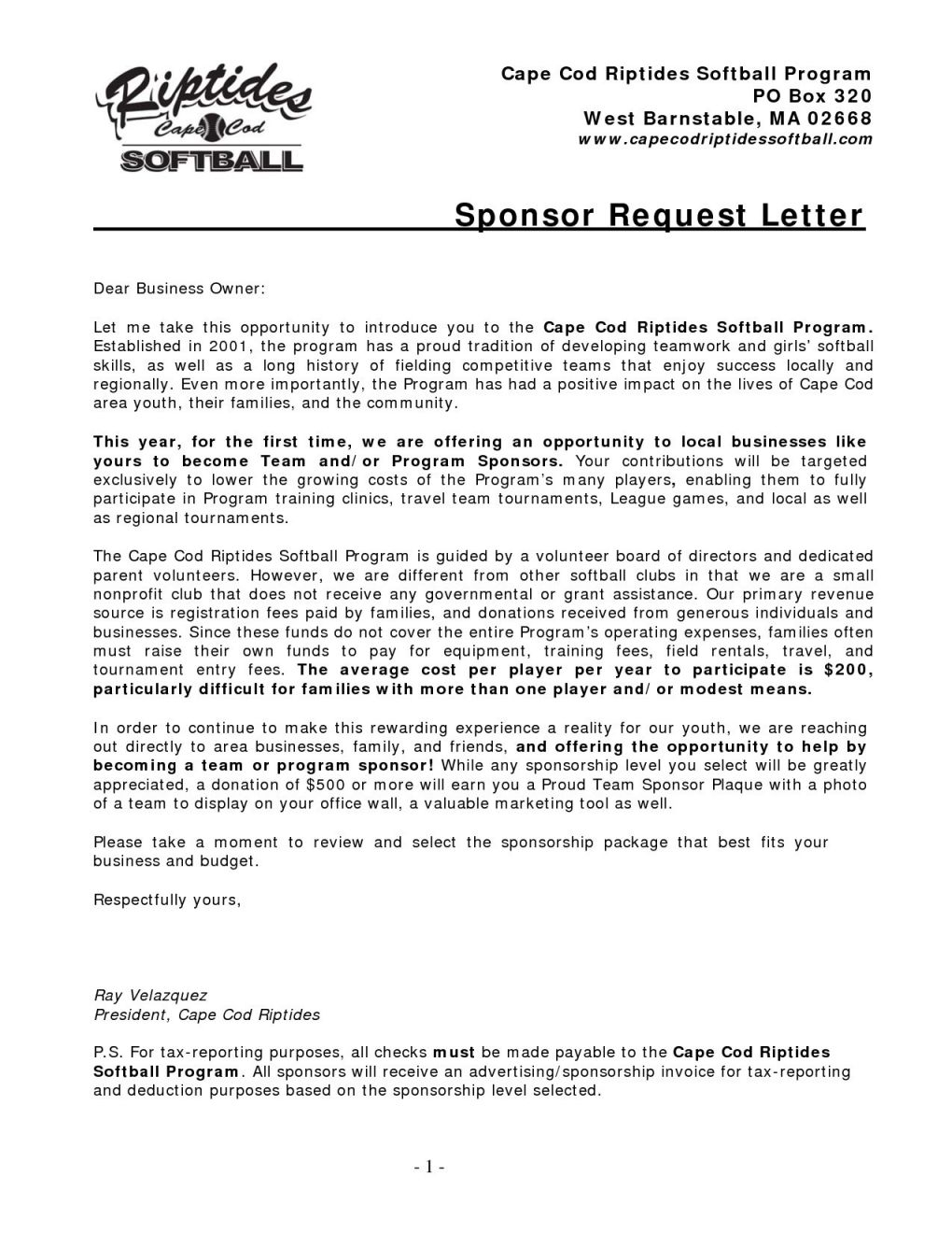 Youth Baseball Sponsorship Letter Template - Popular Letter asking for Sponsors Nh84 – Documentaries for Change