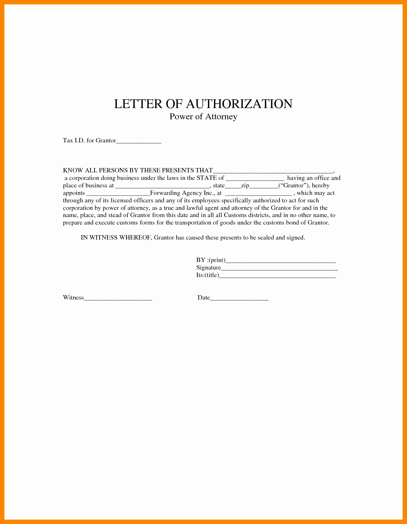 Power Of attorney Letter Template Free - Power Of attorney Letter Sample Acurnamedia