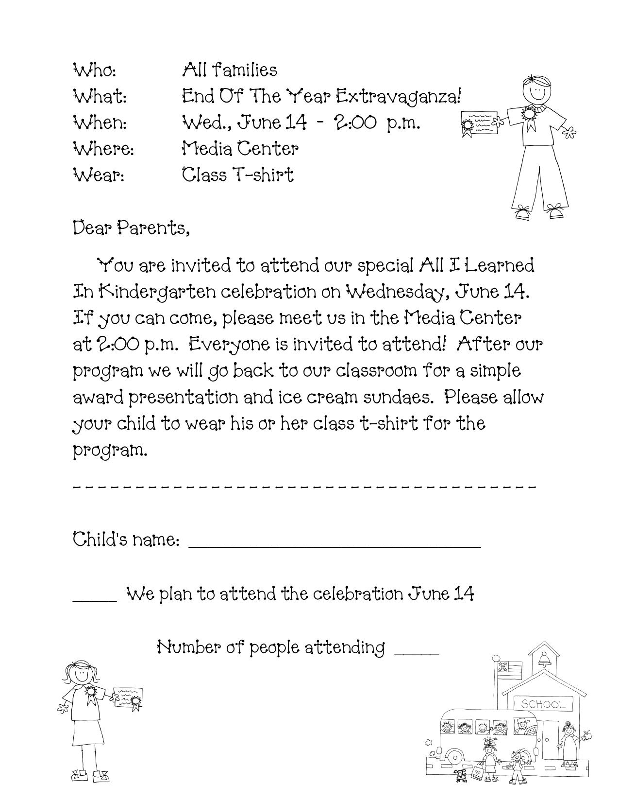 kindergarten welcome letter template example-preschool graduation program sample Google Search 3-e
