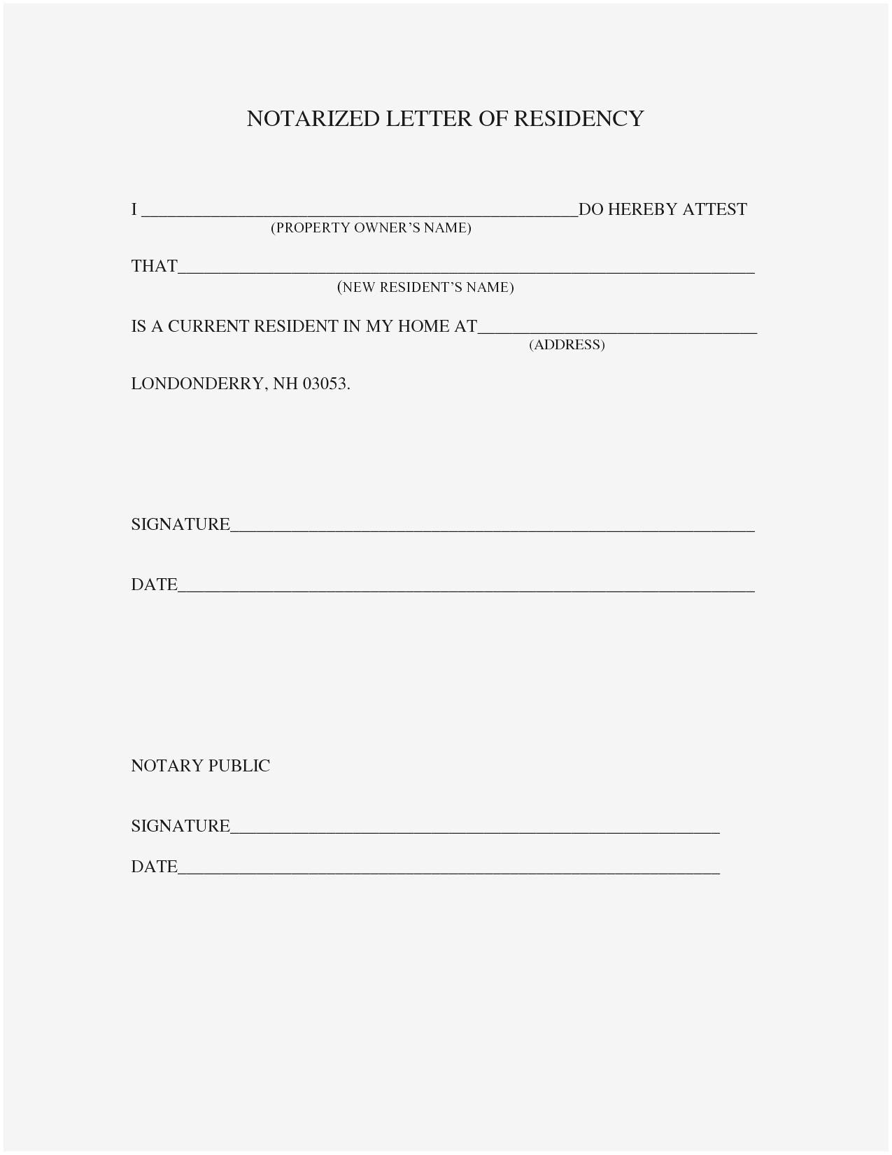 proof of residency letter notarized template example-Printable Notarized Letter Residency Template Samples How to Notarize A Letter 20-n