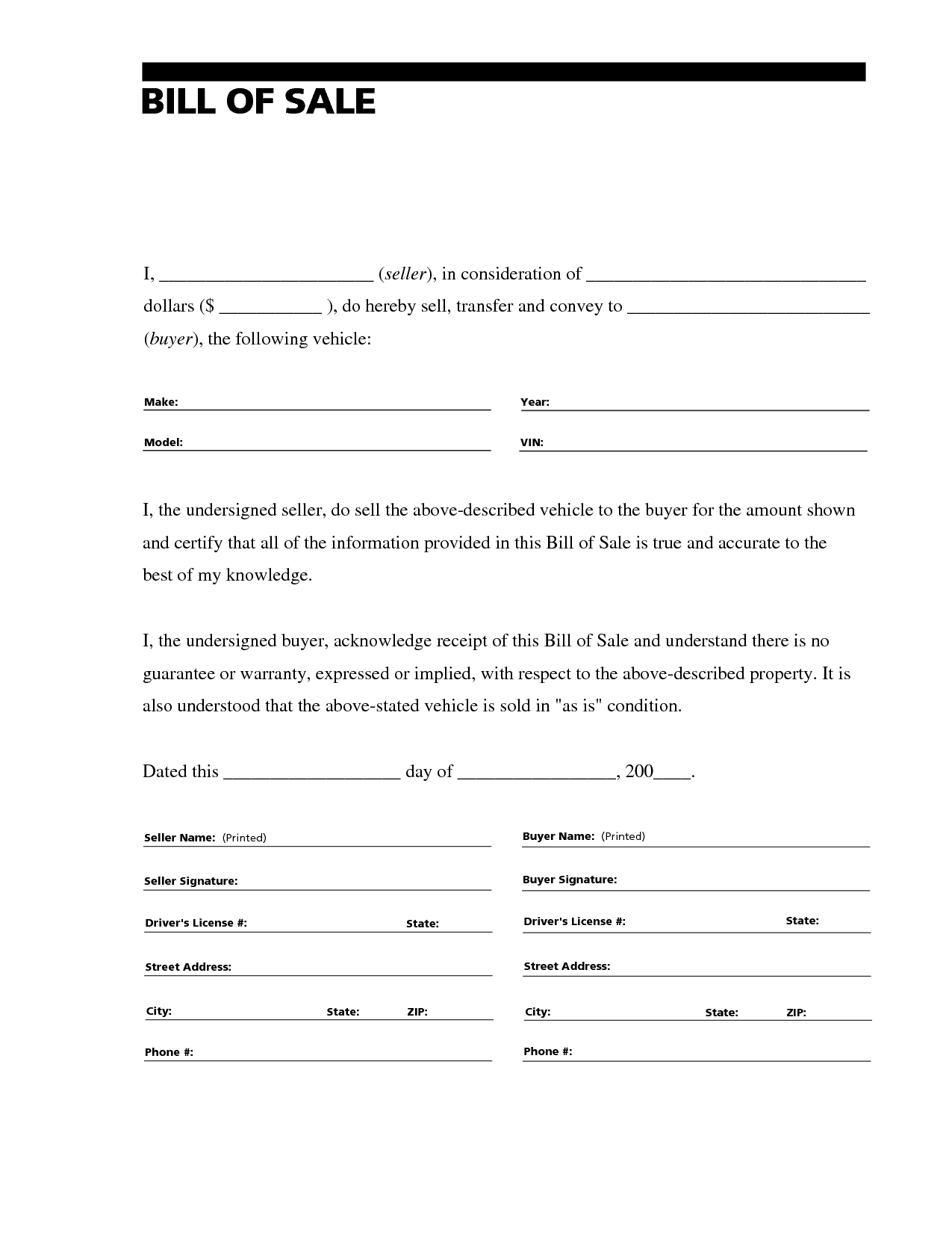 Eviction Letter Template Florida - Printable Sample Bill Of Sale for Rv form