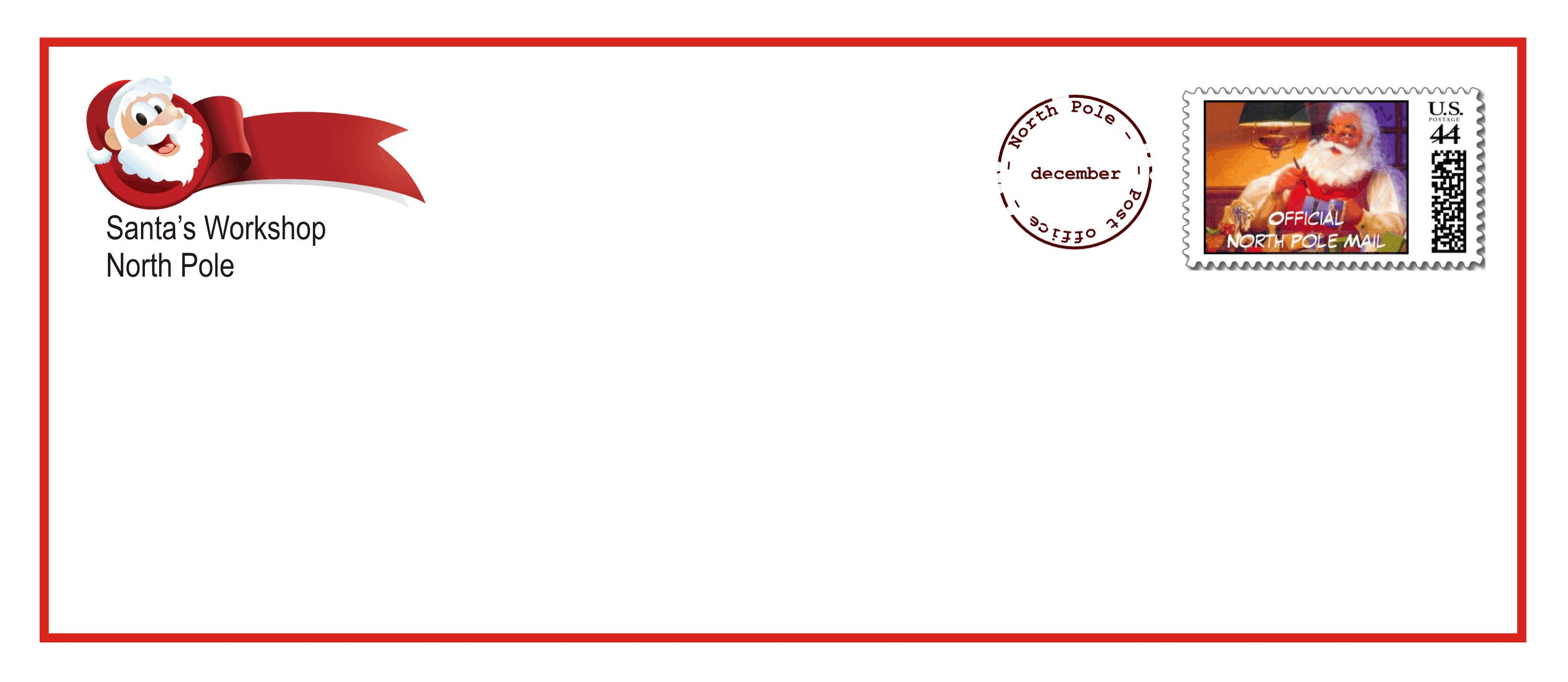 Free Letter to Santa Template Printable - Printable Santa Letter Envelopes that E with the Upgraded Letter