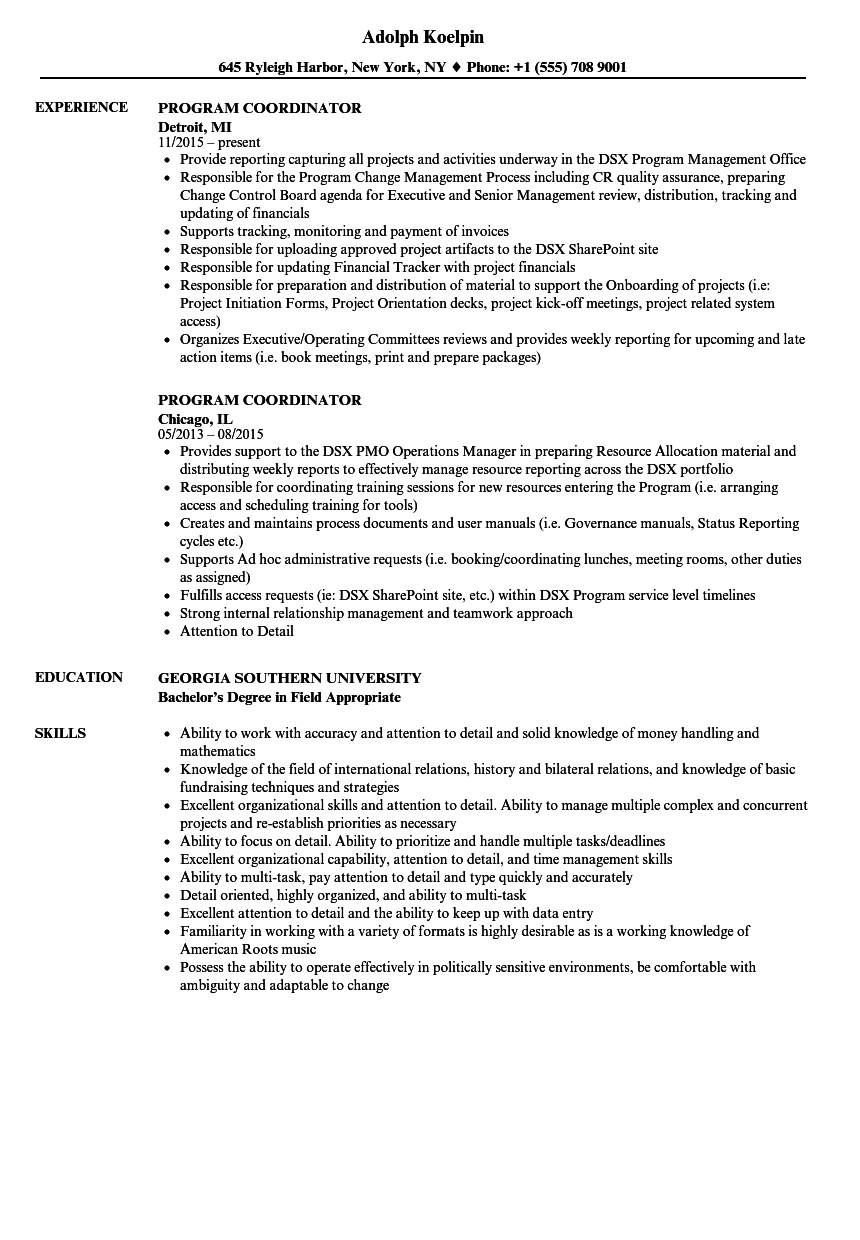 Failed Pre Employment Drug Test Letter Template - Program Coordinator Resume Samples