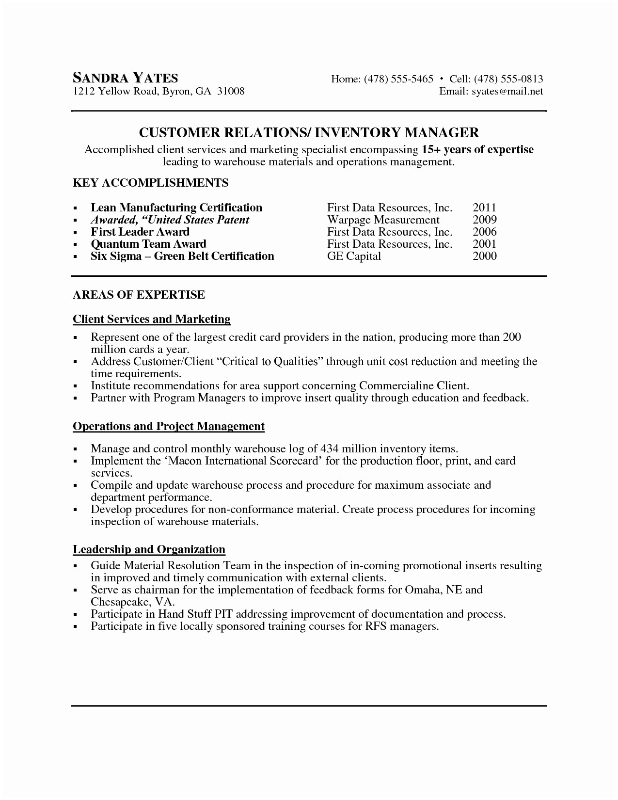 Operations Manager Cover Letter Template Collection | Letter Templates