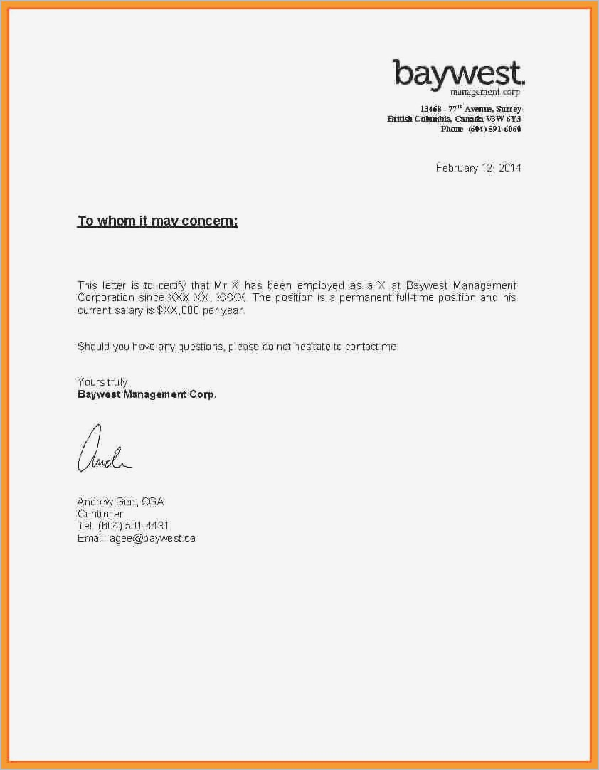 Proof Of Employment and Salary Letter Template - Proof In E Letter Self Employed Ideas