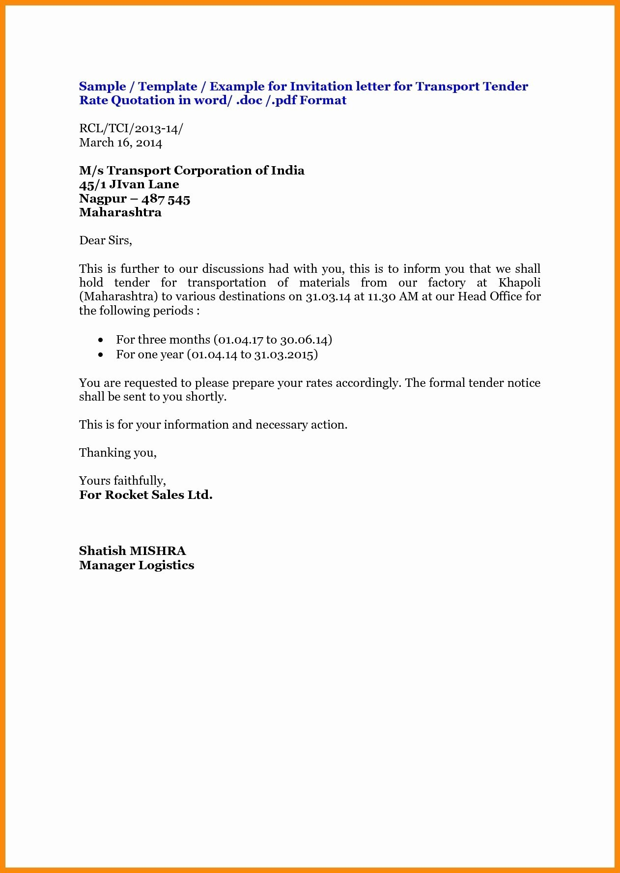 Price Offer Letter Template - Quotation Letter format Word Valid Cover Letter format for Resume