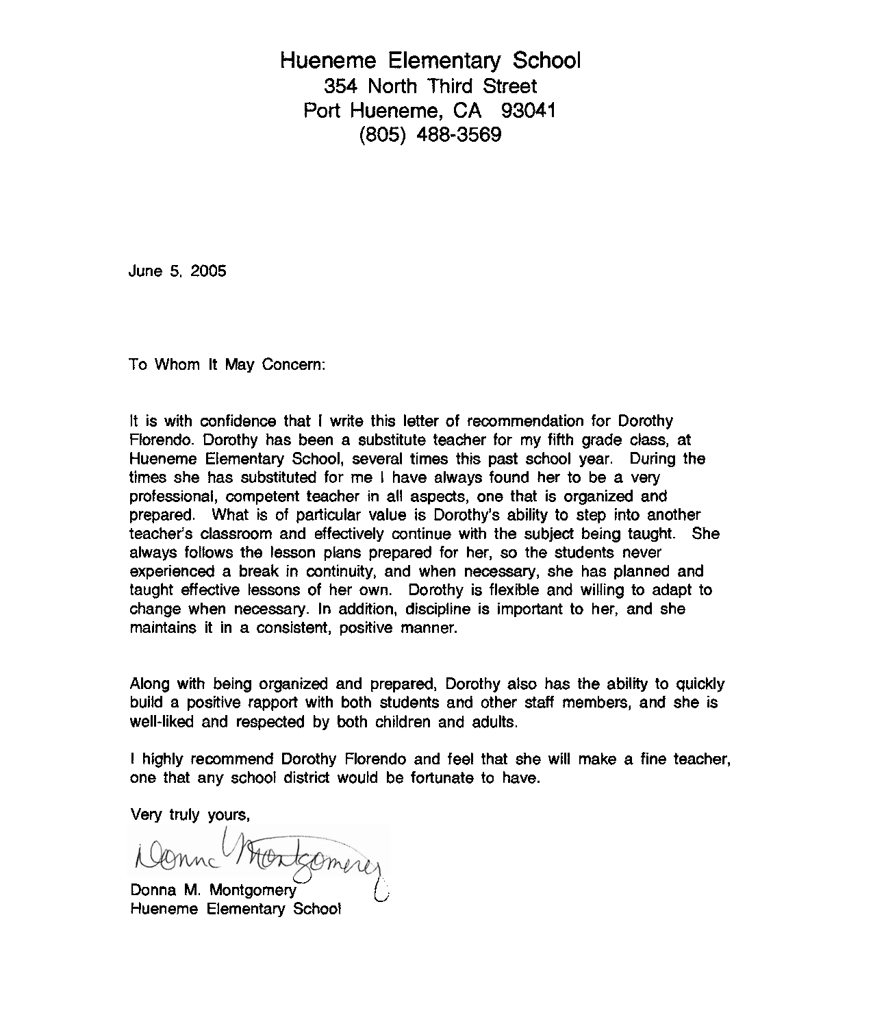 School Recommendation Letter Template - Re Mendation Letter Sample for Teacher From Student